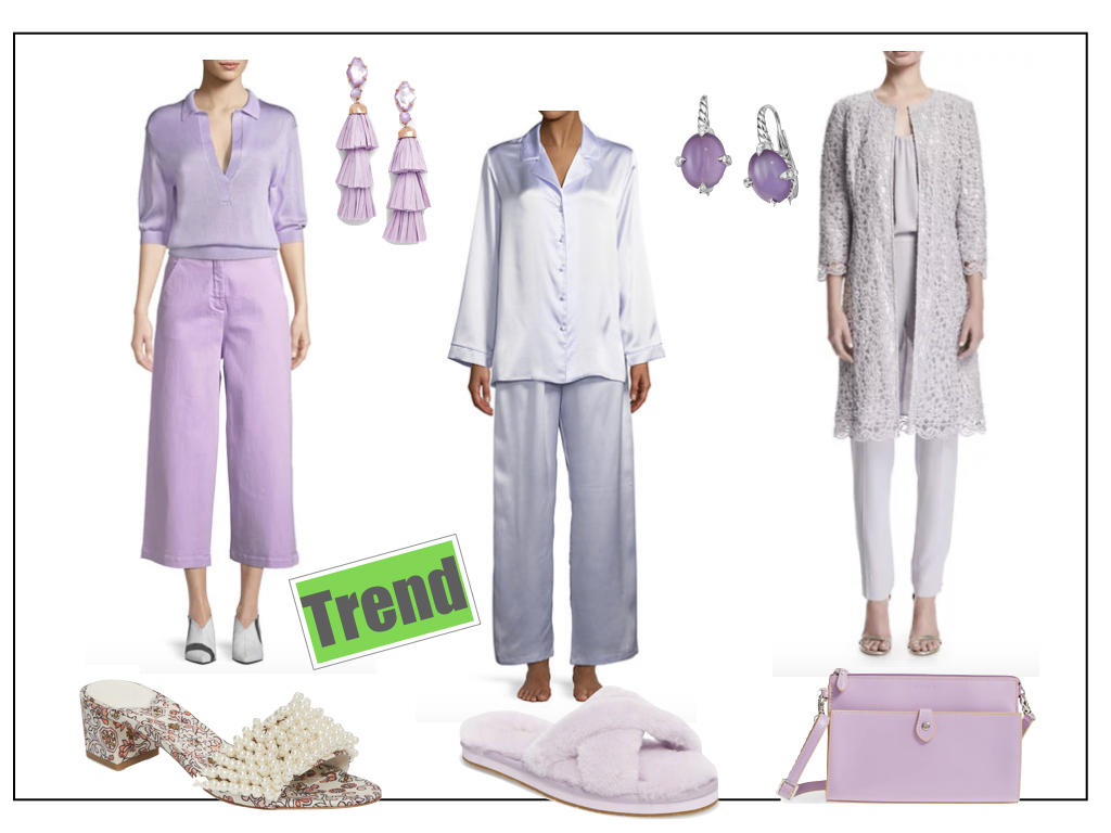 Choose any of these  lavender pieces  to instantly update your Spring '18 wardrobe.