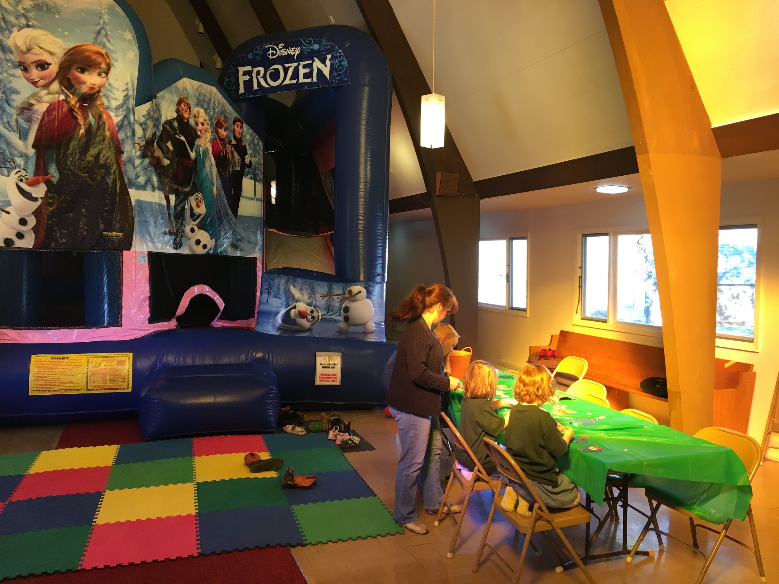 Our large children's space makes it a great place for kids to learn about Jesus while having fun.