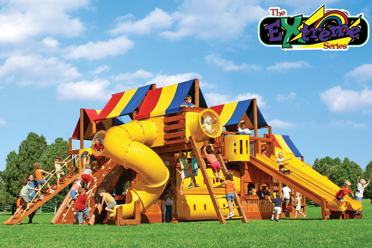 While it probably won't be this big (but it would be cool if it was!), we are raising funds to put a large play-center in the front of our church. We want our kids to love going to church!