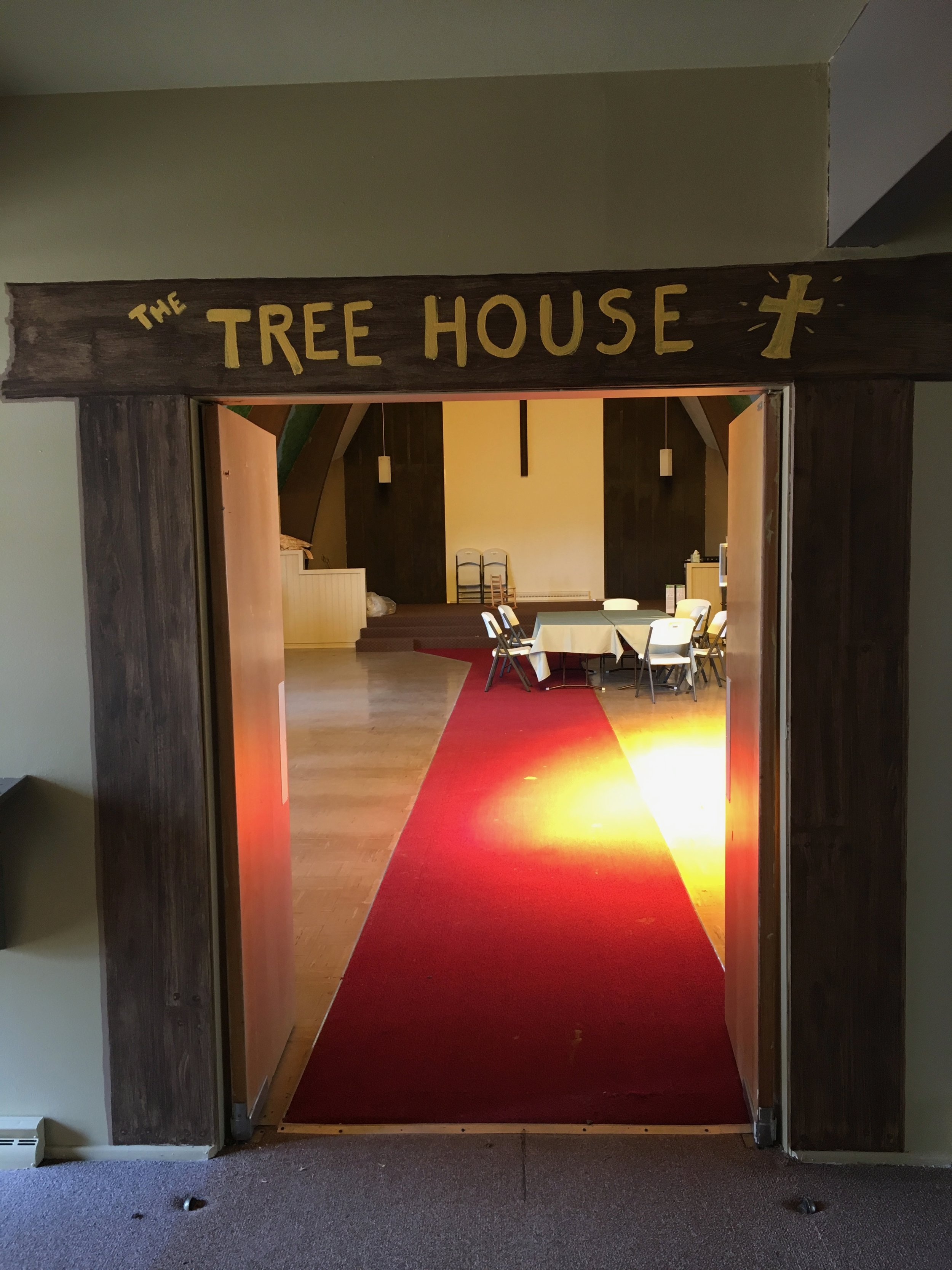 The Tree House. Children's church and other kid's activities are held in this great room.