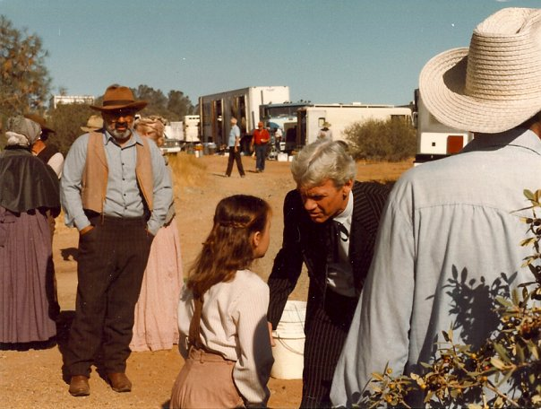 Running lines on location in Sonora, California. The old trains we rode were the best!