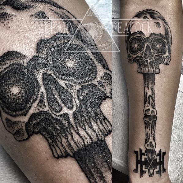 zach peacock dot work skull key elizabeth st tattoo riverside ca .jpeg