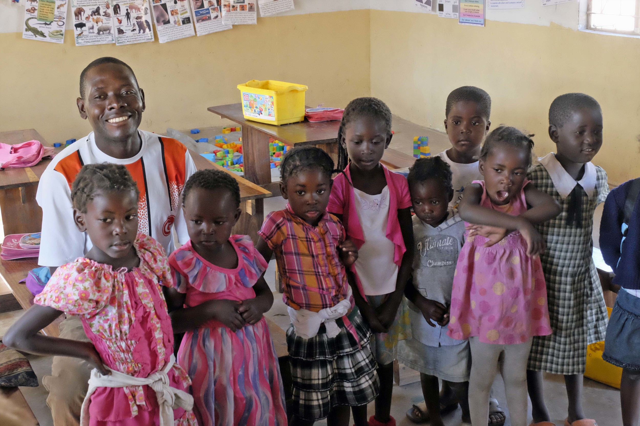 Lemmi and some of his children, the future leaders of Zambia!