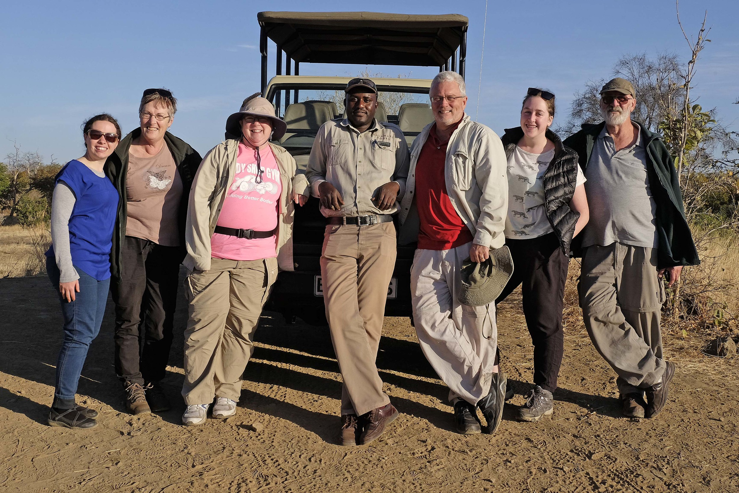 Our Australian friends and guide (L to R): Emily, Annette, Abby, Isaac, Doug, Megan & Kevin