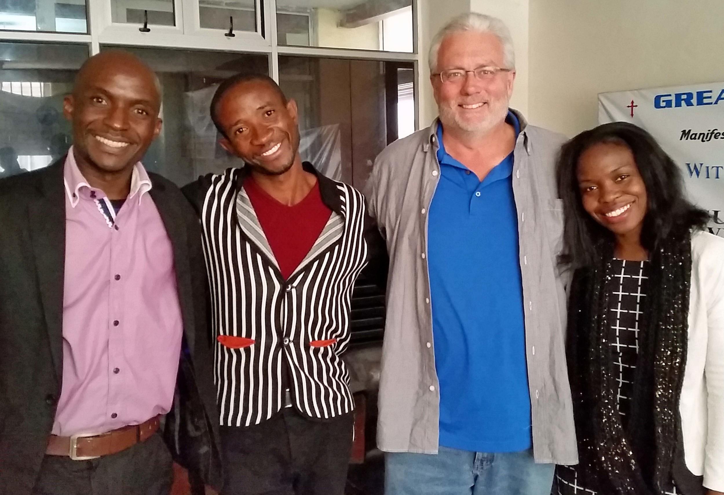 Some of our students (L to R): Paul, John, Doug & Ezi
