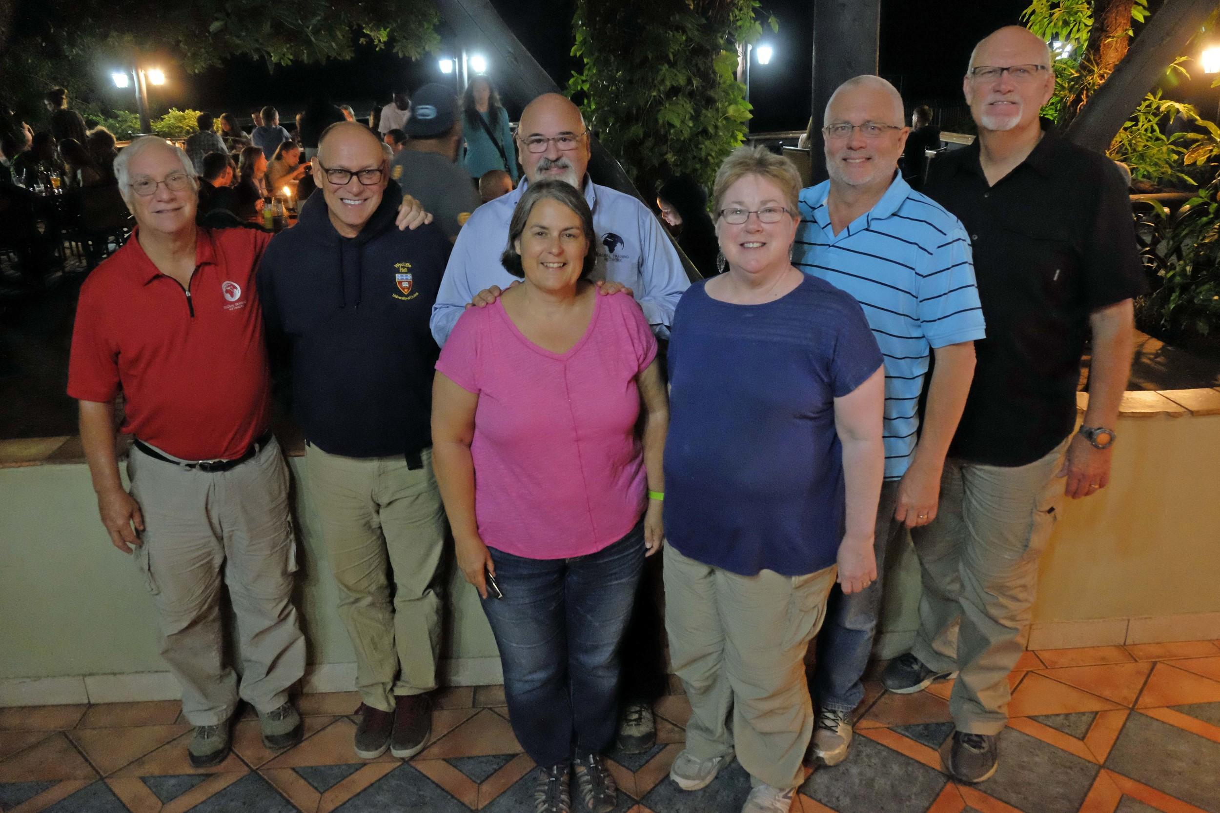 GTN Colleagues in Livingstone, Zambia (L to R): Gary, Doug, Carl & Patsy, Abby & Doug and Joel