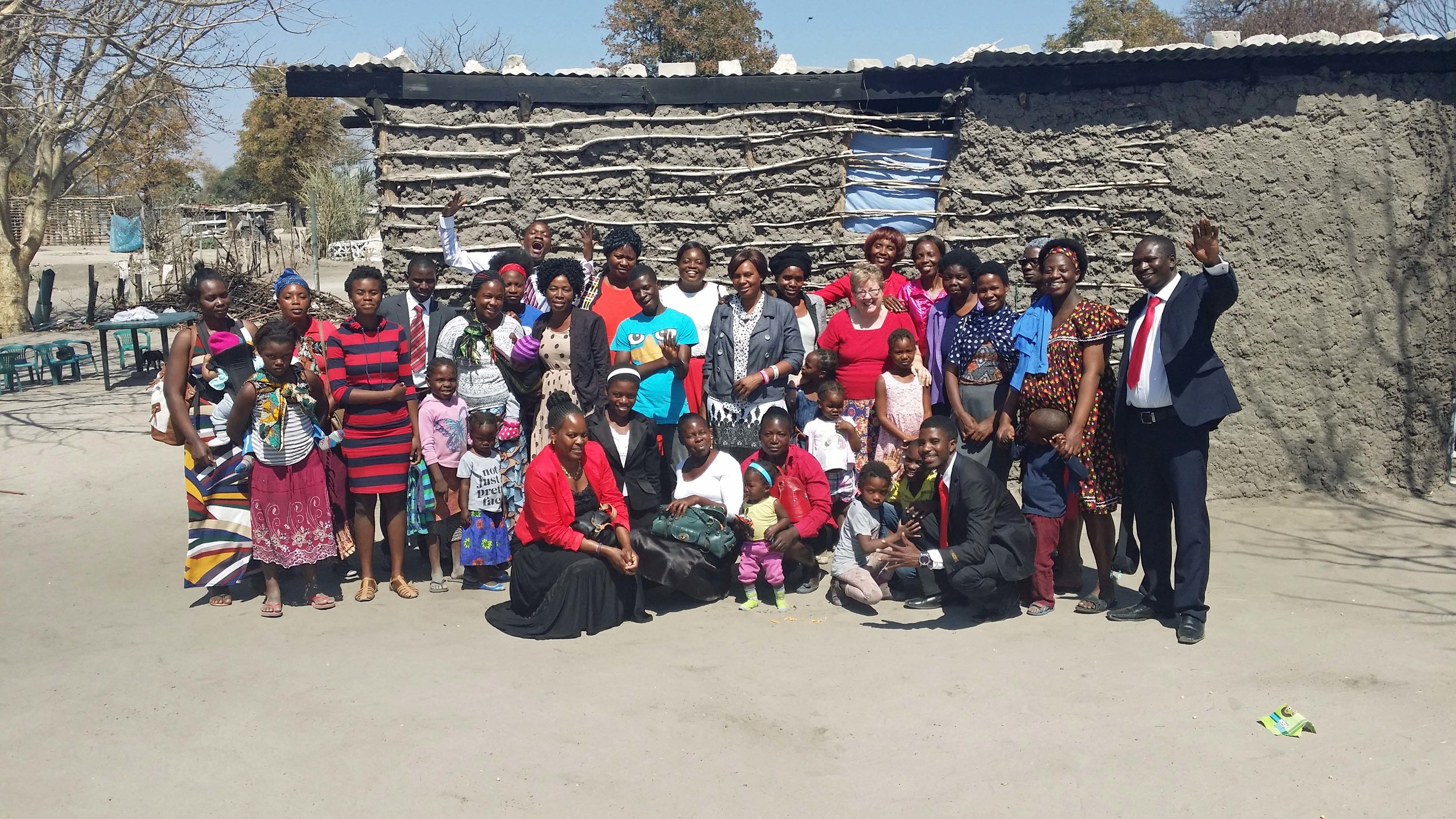 Global Movement of Salvation Church in Katima Mulilo, Nambia (Abby, center R)