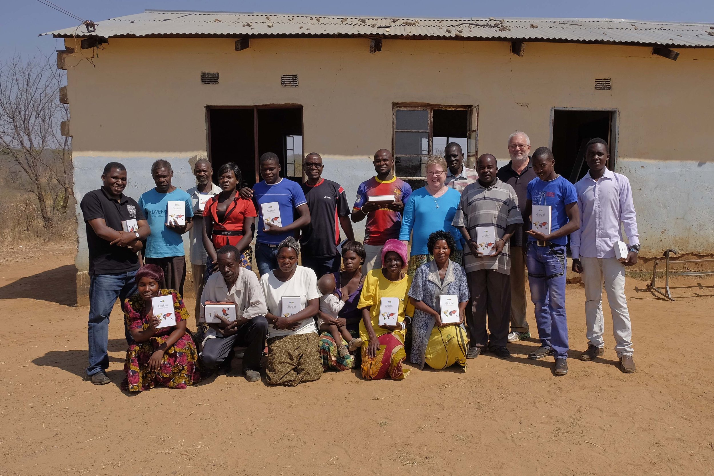 Musokotwane students with their Global Study Bibles!