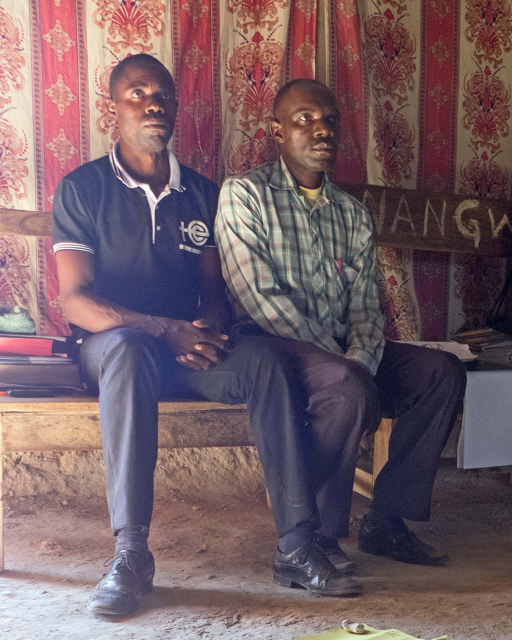 Pastors Titus and Martin organized the training. Pastor Martin's story broke our hearts.