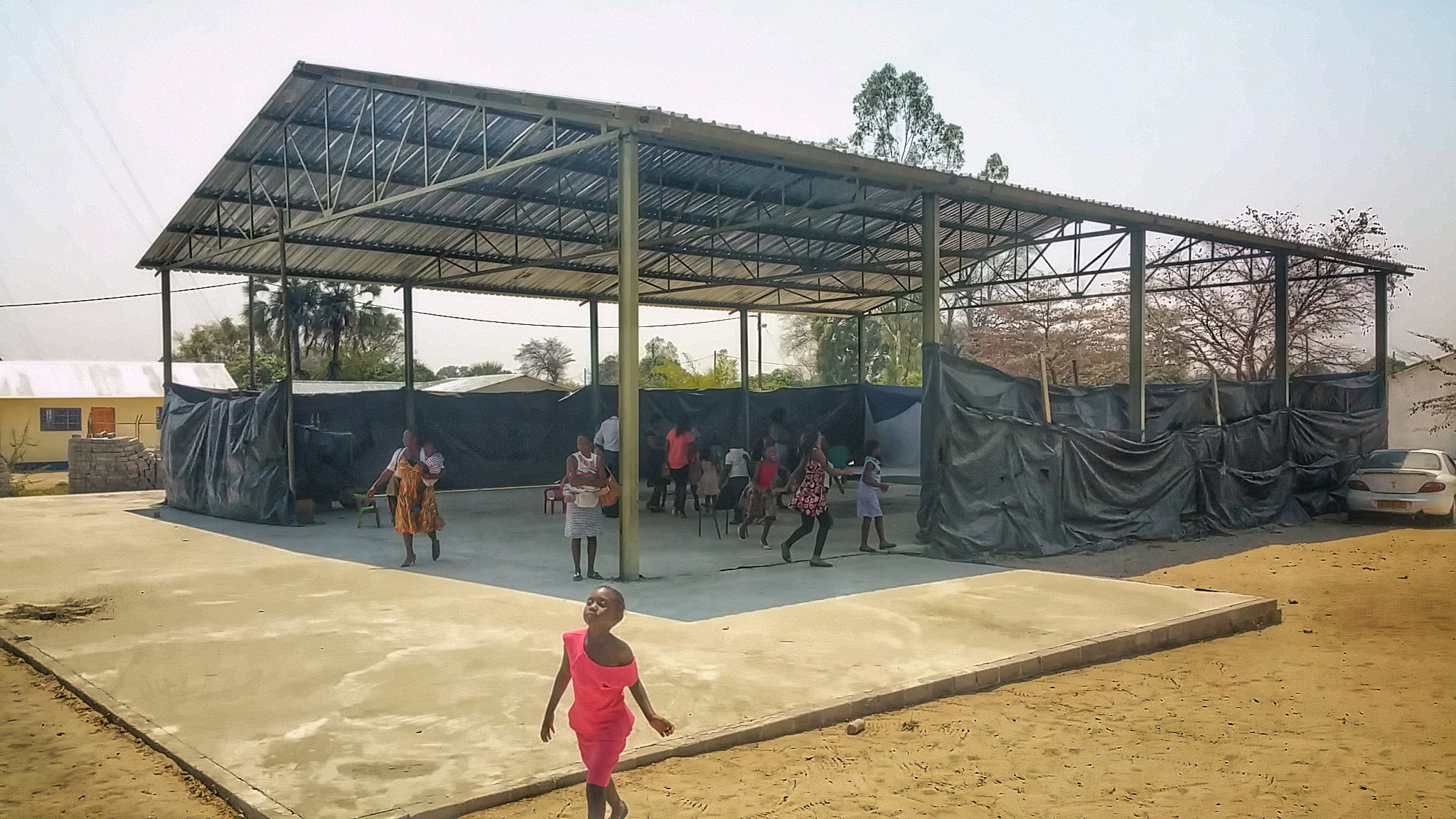 Believers Fellowship gathers here for worship, prayer and study. As you can see, they are in the process of building.