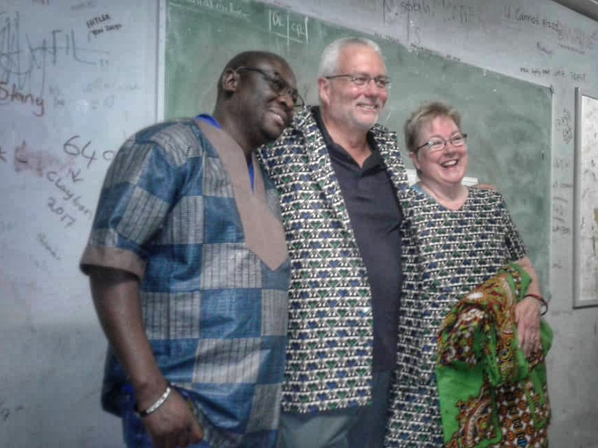 Our students gifted us with these beautiful custom tailored clothes. One of our students, Royd, is a gifted tailor!