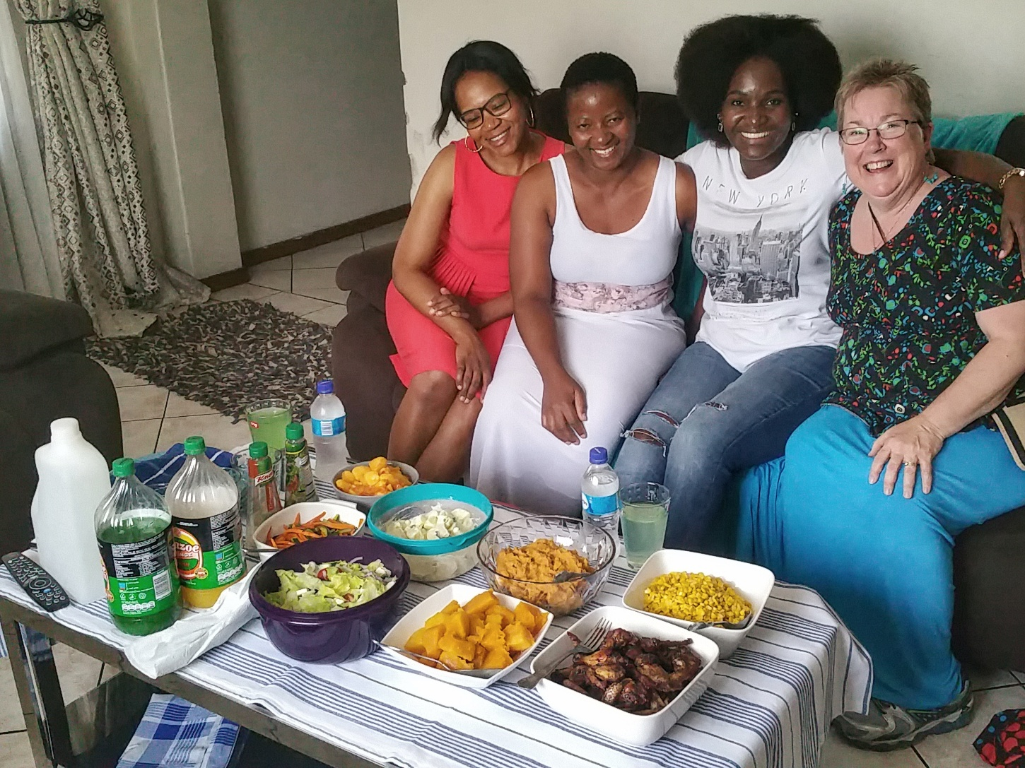 L to R: Agnes, Joyce (our chef and host), Sue and Abby.