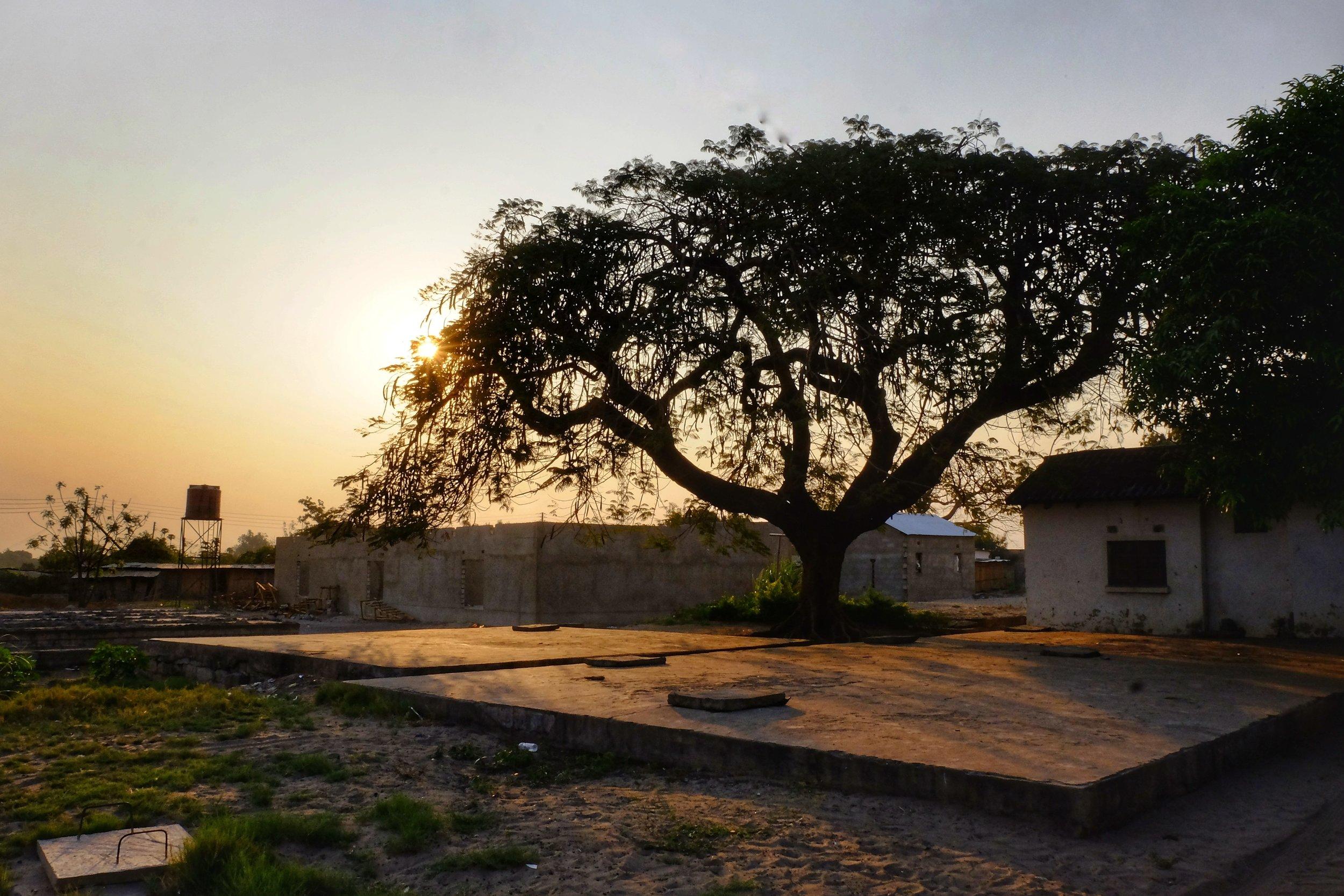 Sunsets were beautiful in Mongu, Zambia.