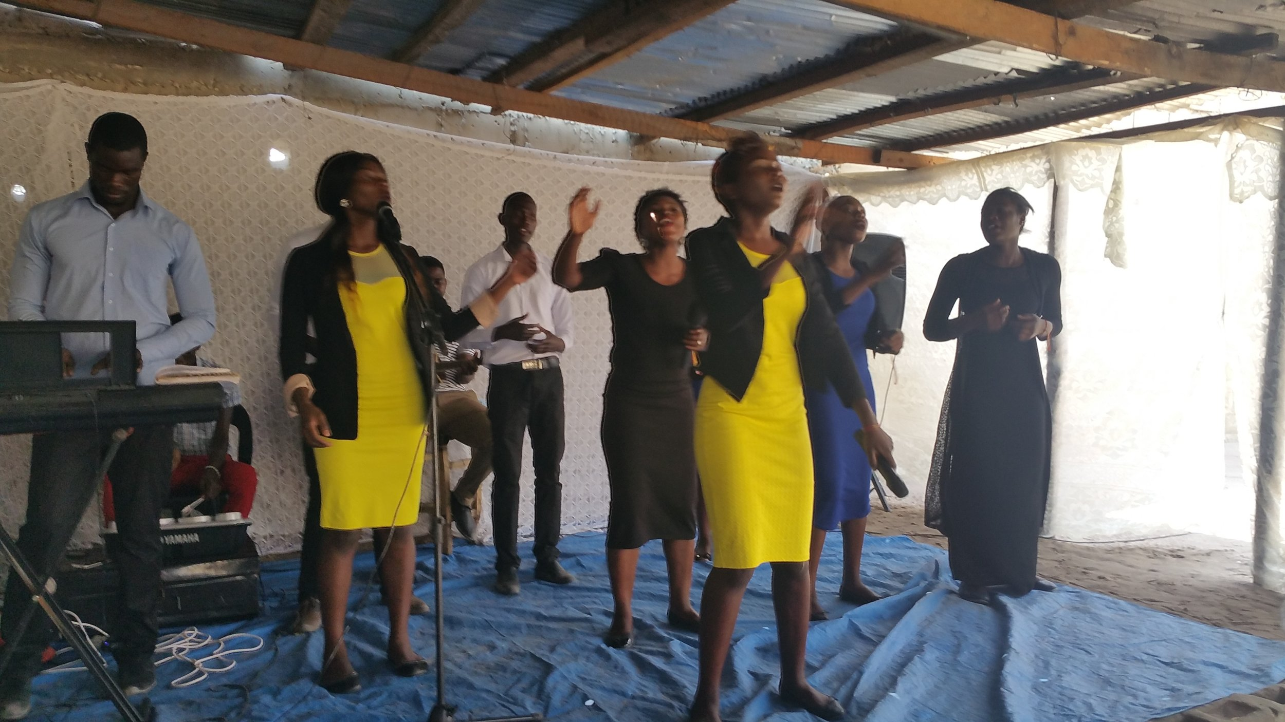 We enjoyed worshipping at the Vineyard Church in Mongu where Doug was privileged to preach and Percy taught. Five of these praise team leaders were in our class!