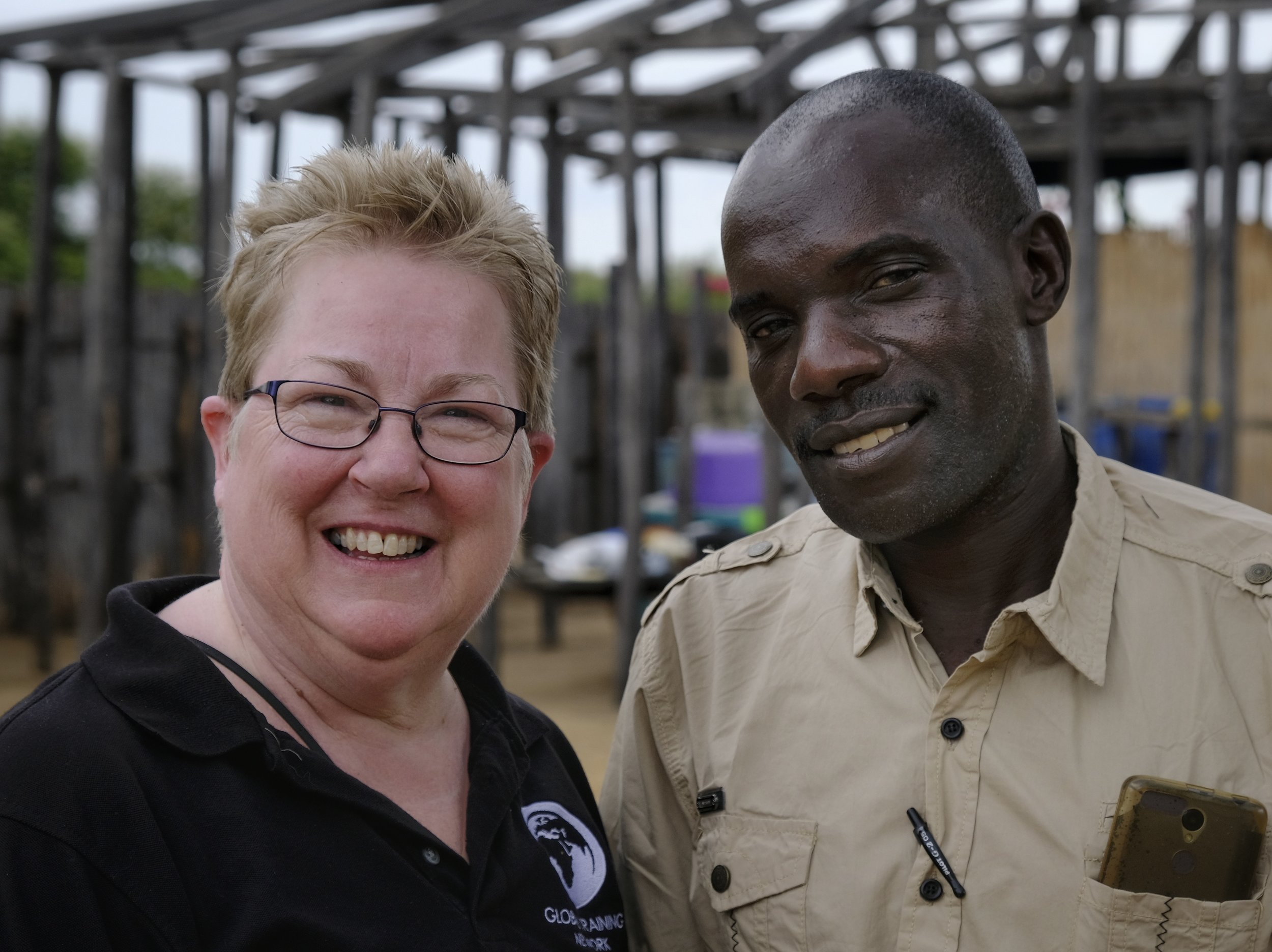 We'll miss our dear friends in Nangweshi, like Pastor Martin Ilukena, pictured here with Abby.