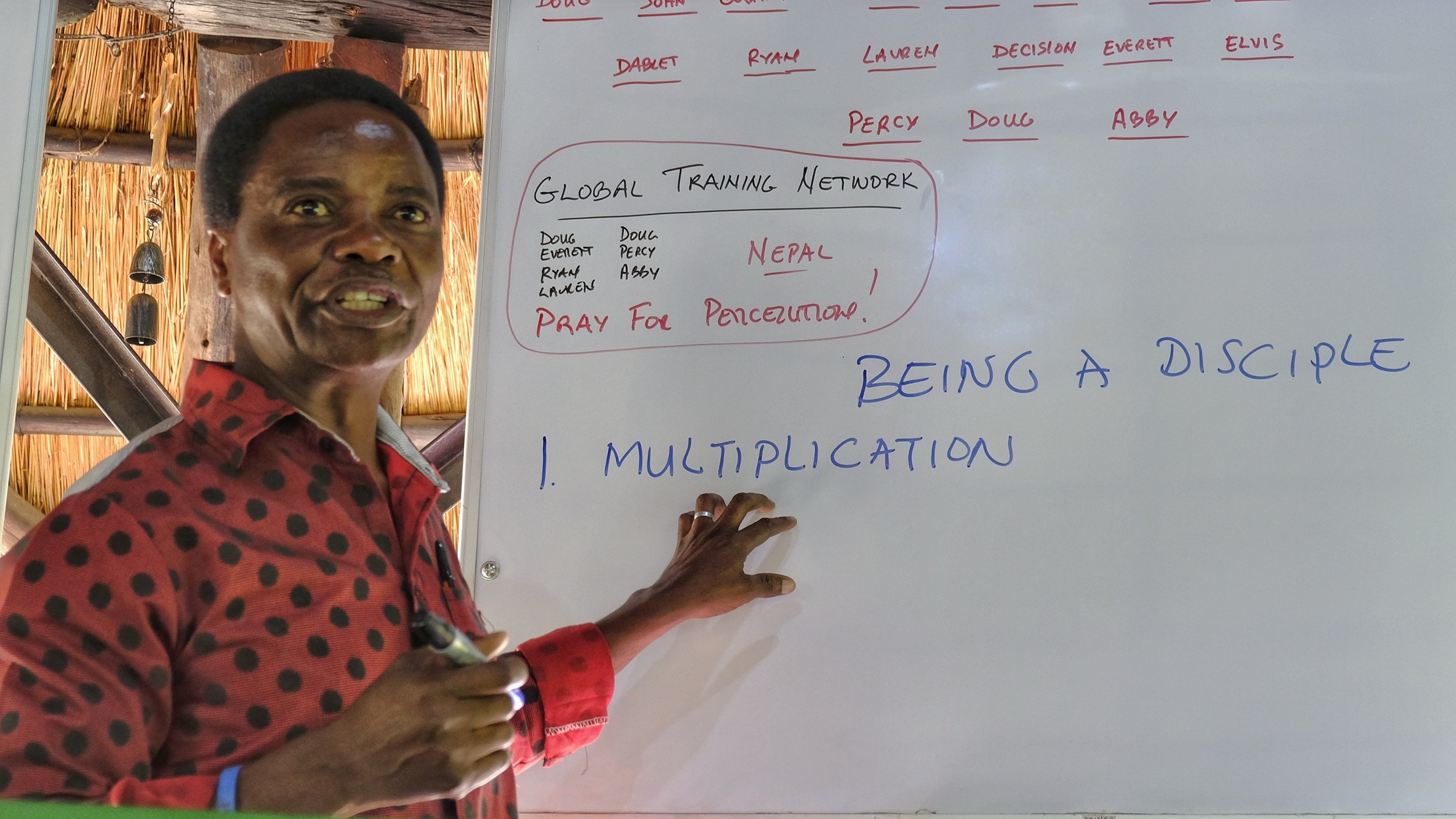 It was an unexpected joy to see our dear friend and former student, Pastor Arold Mudenda, teaching principles of discipleship multiplication during two days of training in Livingstone, Zambia!