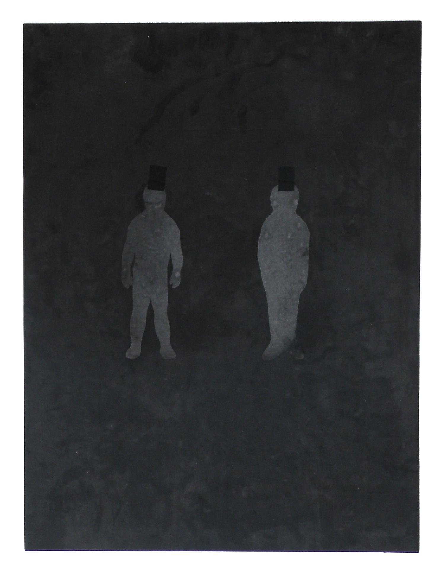 two mylar figures