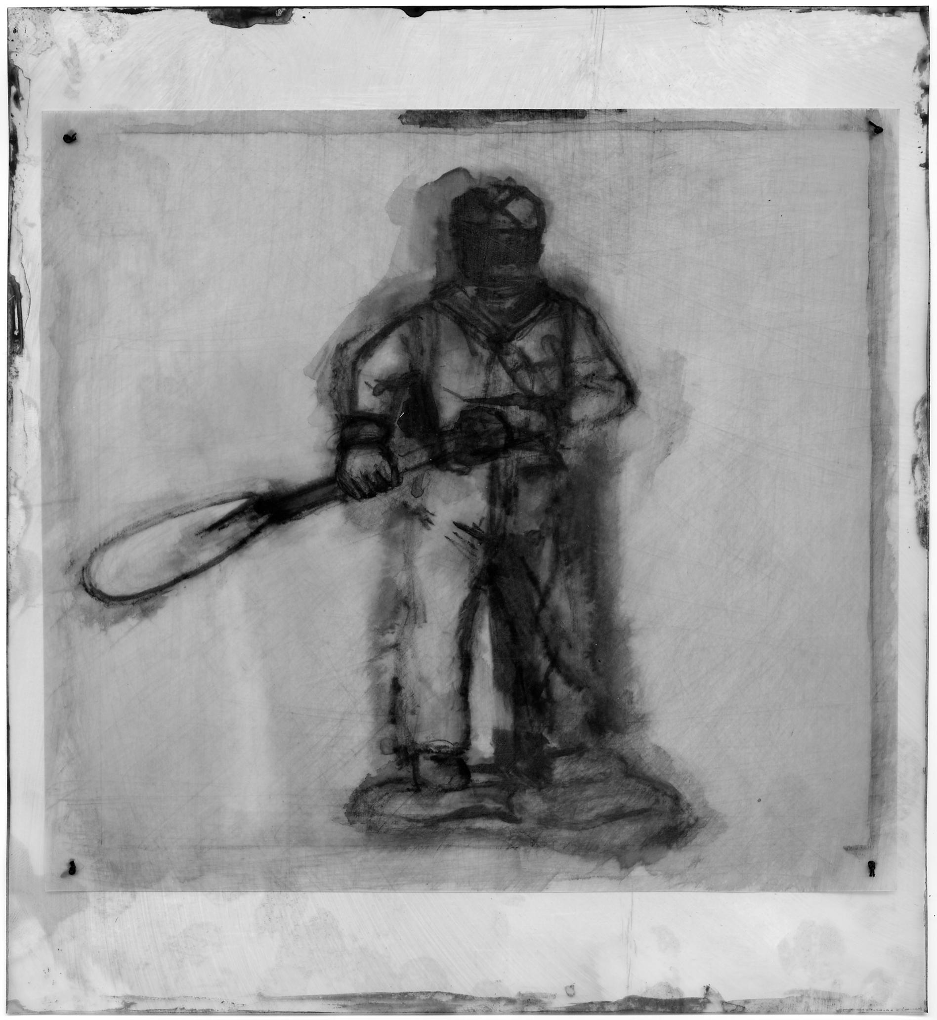 scout with oar