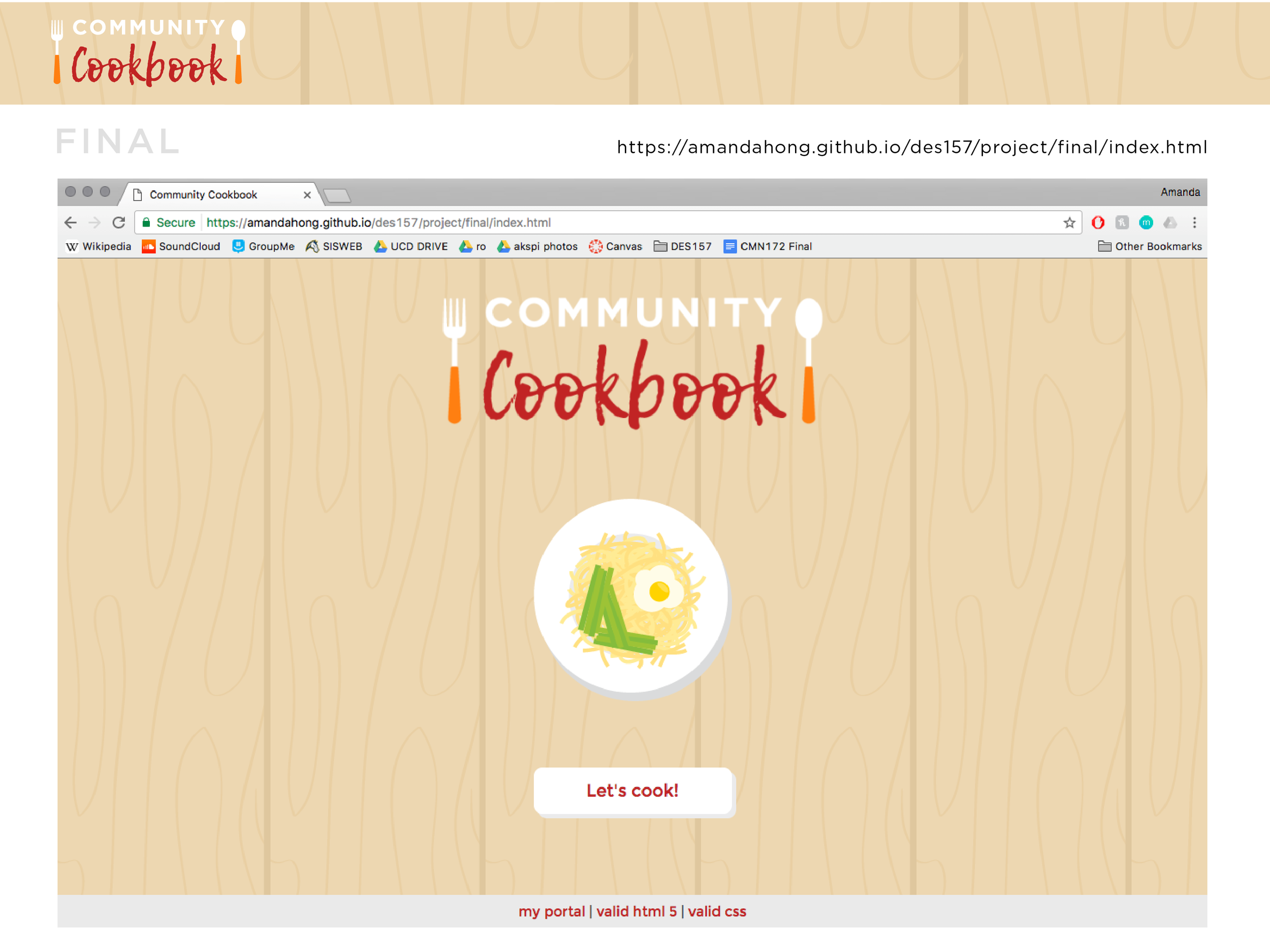 Community Cookbook — Amanda Hong