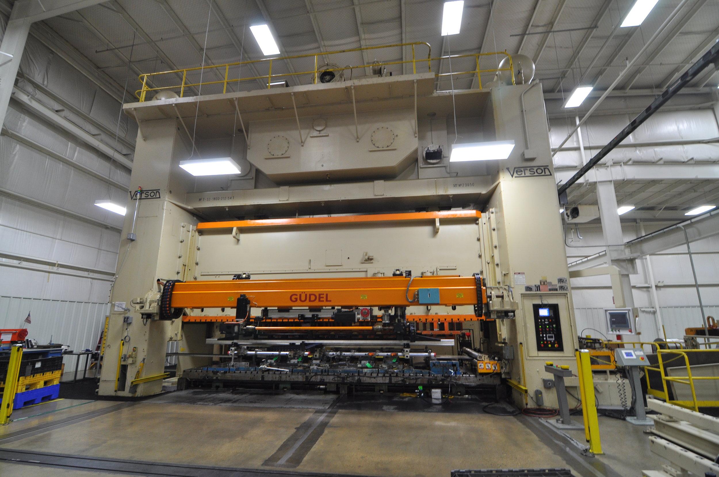 1800 ton Verson press