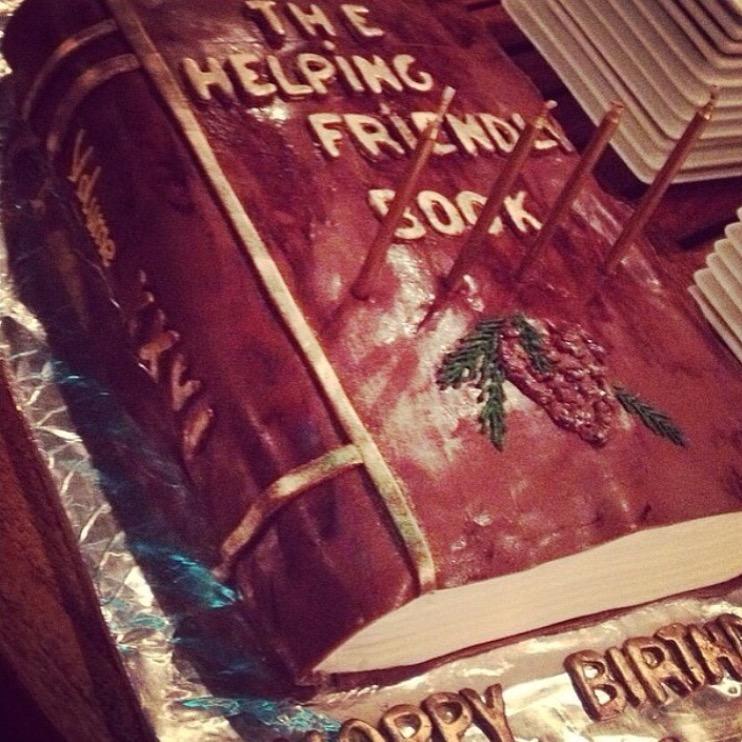 Helping Friendly Birthday Cake