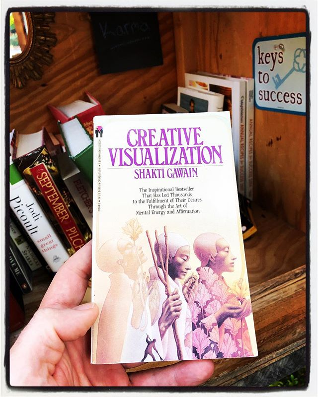 Great find in the #HFLFL this morning! #creativevisualization #shaktigawain #SEJNES #helpingfriendly #littlefreelibrary #readthebook
