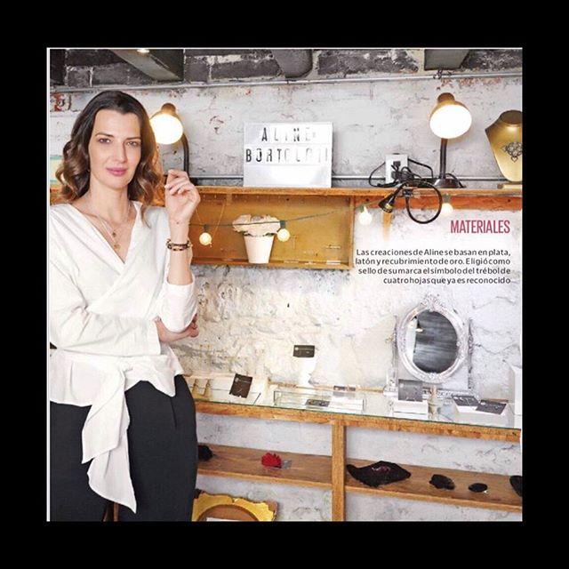Muchas gracias @revistaclase por esta publicación hablando de nuestra marca ❤️ #jewelry #meaningfuljewelry #design #brand #joyeria #diseño #potd #love #luck