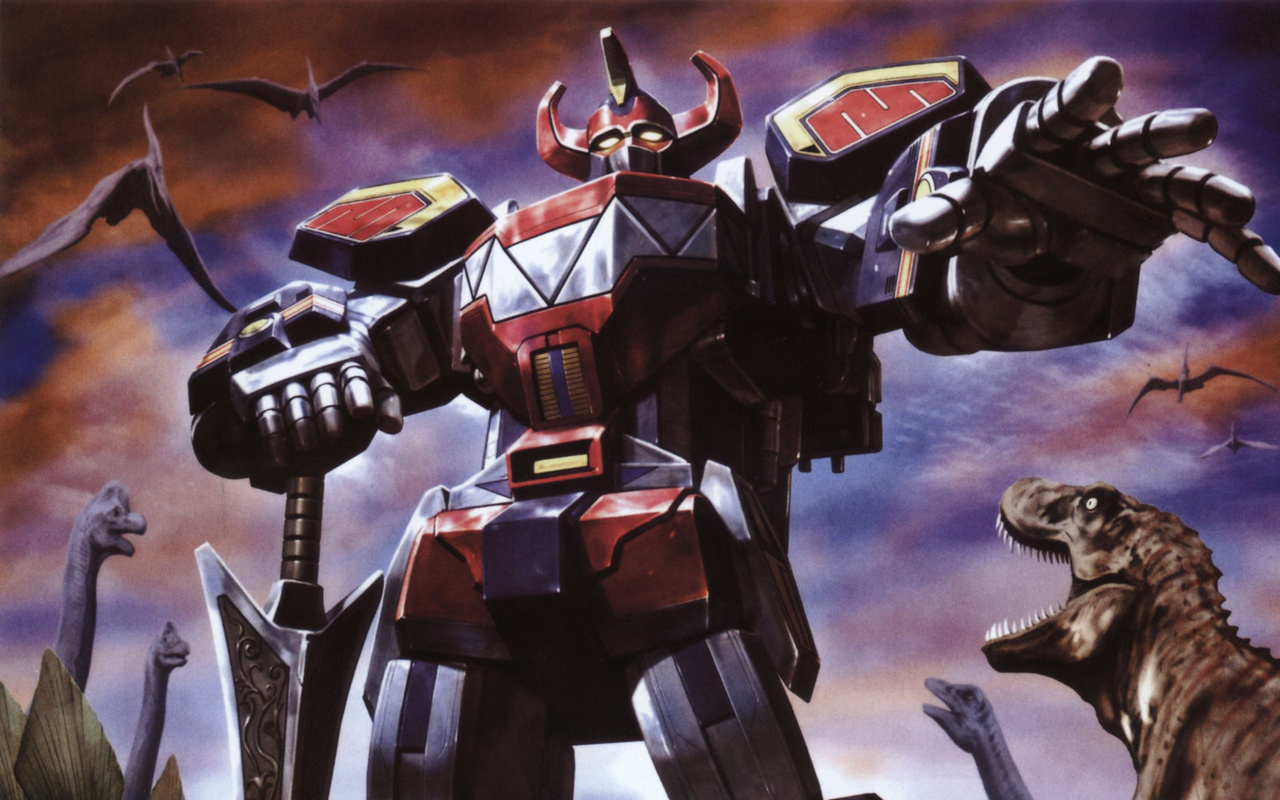 In which I terribly compare identities in California as a form of MegaZord and those dinosaurs are very clearly...social issues.