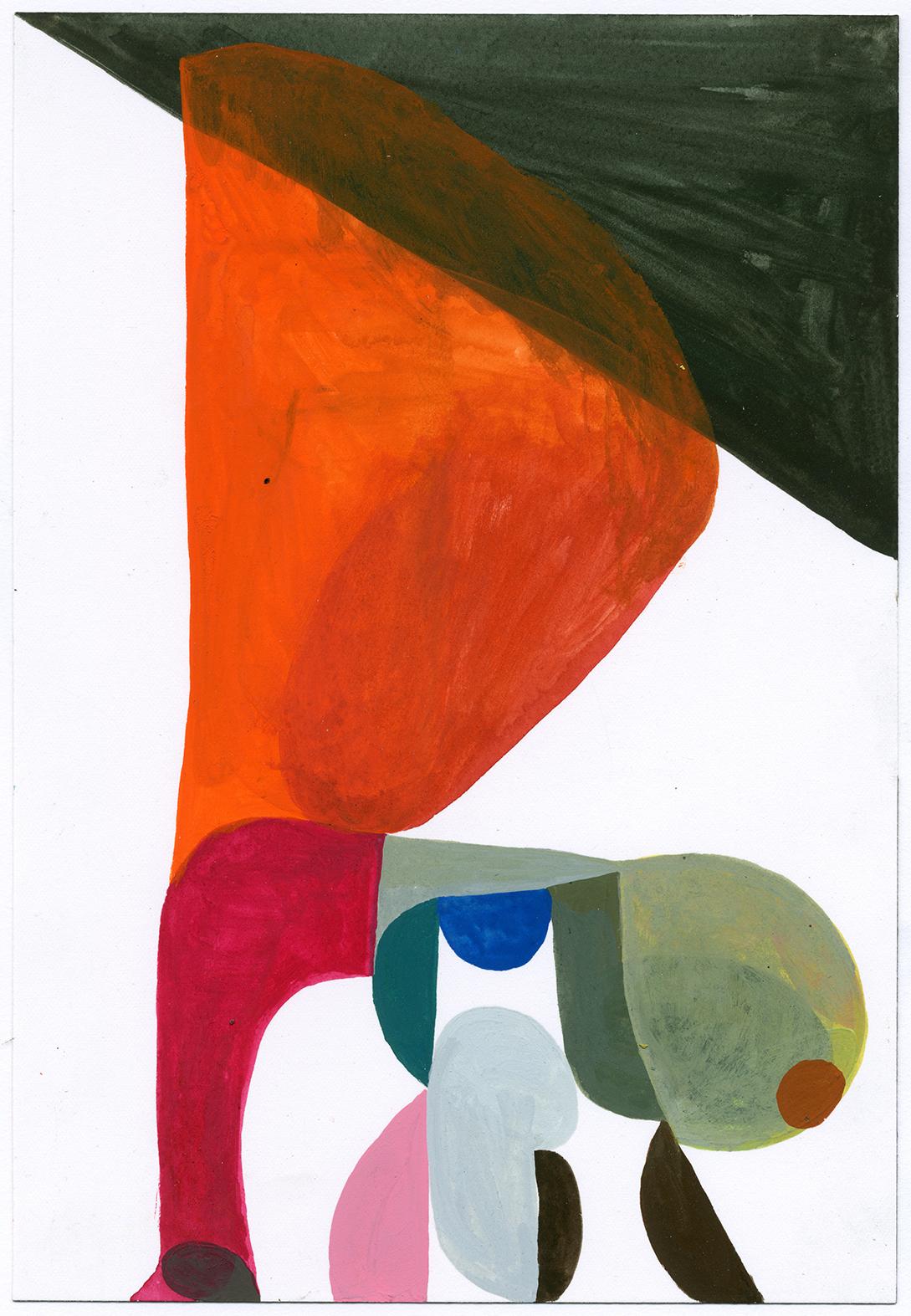 Matt Rich   Amp 10  2015 gouache on paper 10 x 7 inches