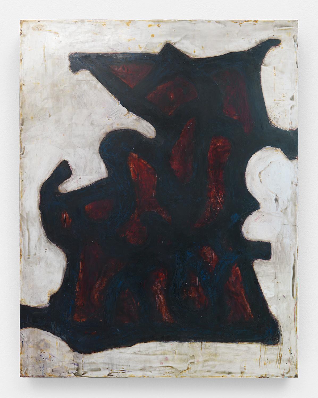 Chuck Webster  Stumblin' Man,  2015 oil on panel 90h x 70w in
