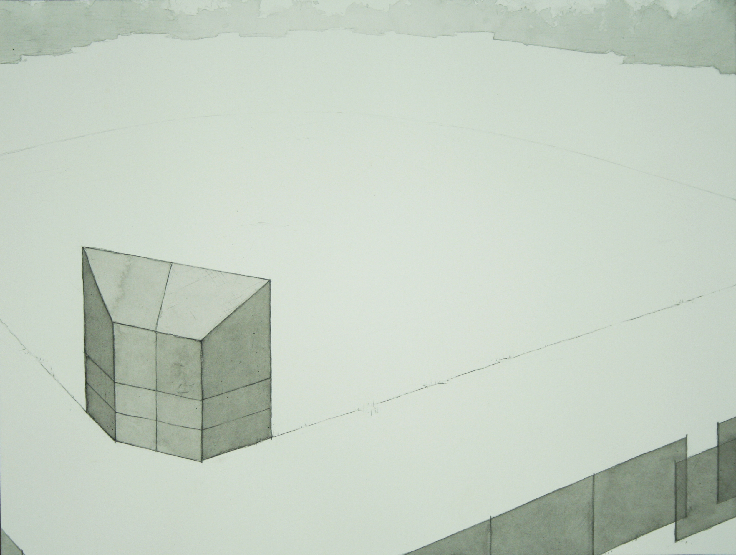 Chris Ballantyne   Ball Field  2013 india ink on paper 12 x 16 in
