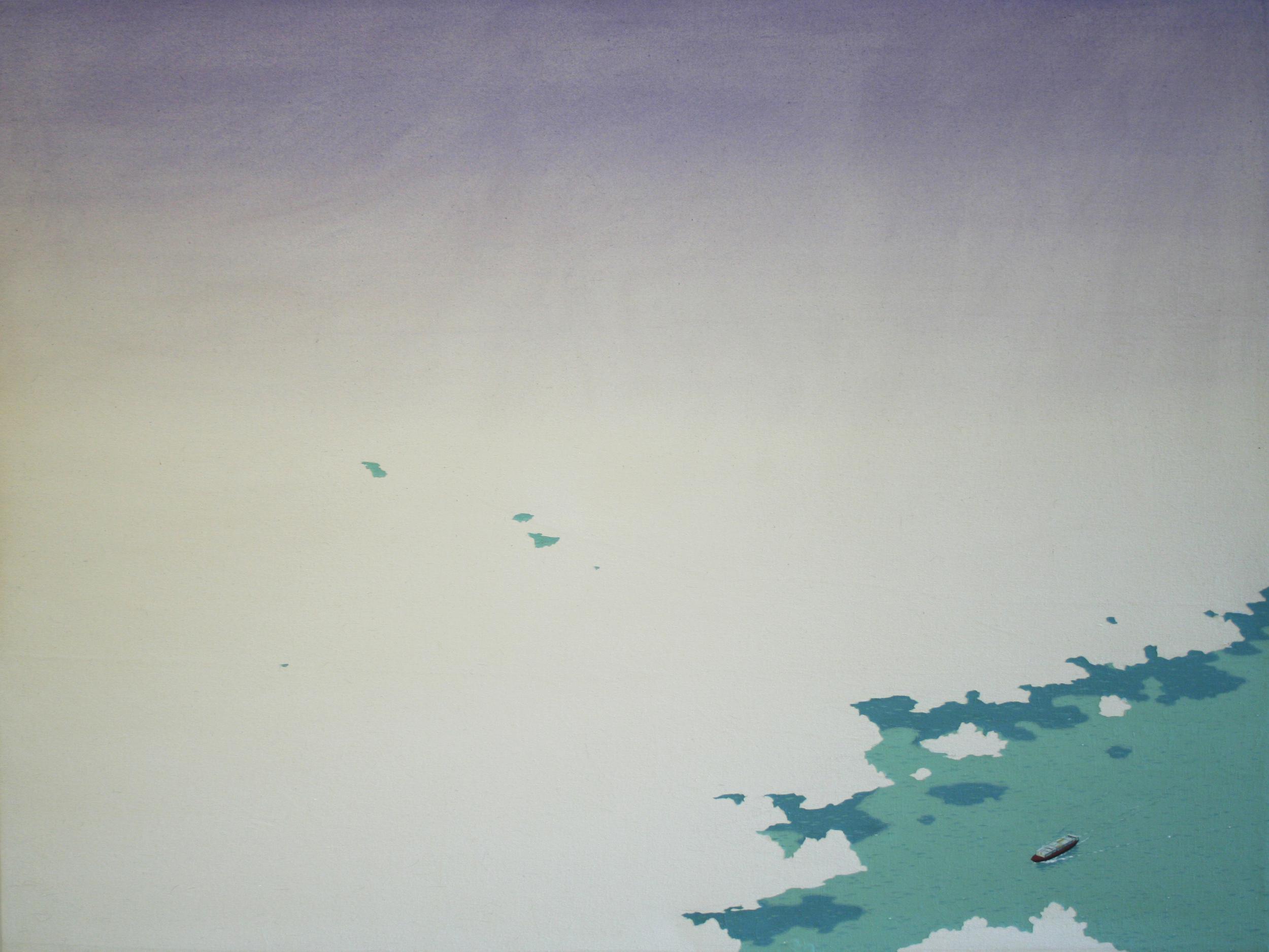 Chris Ballantyne   Cargo Ship  2015 acrylic on canvas 36 x 48 in