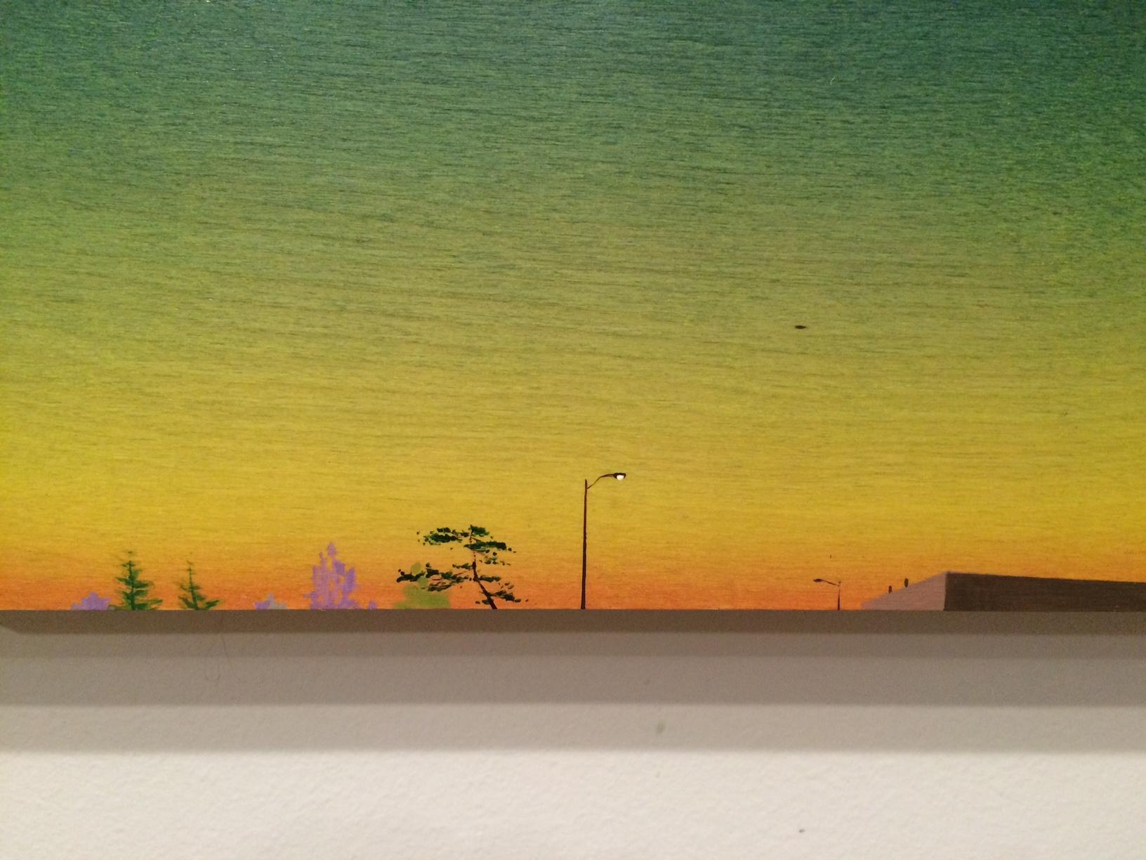 Chris Ballantyne    Getting To Work Early (Detail) 2015 acrylic on panel