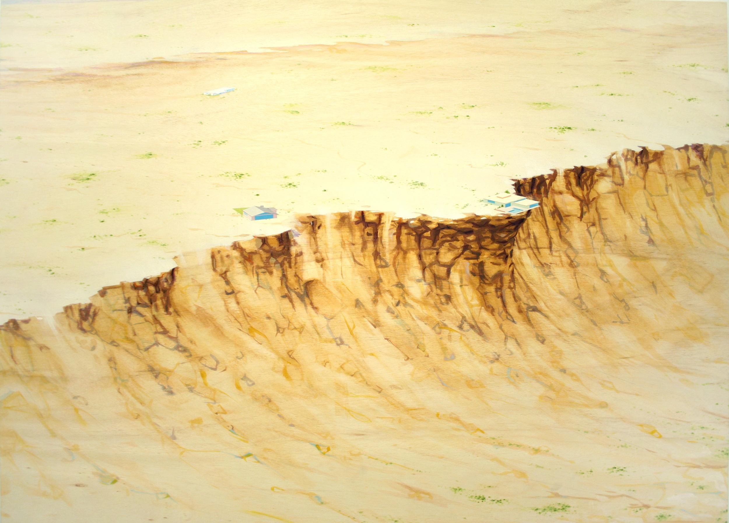 Chris Ballantyne   Over The Falls  2015 acrylic on panel 48 x 64 in