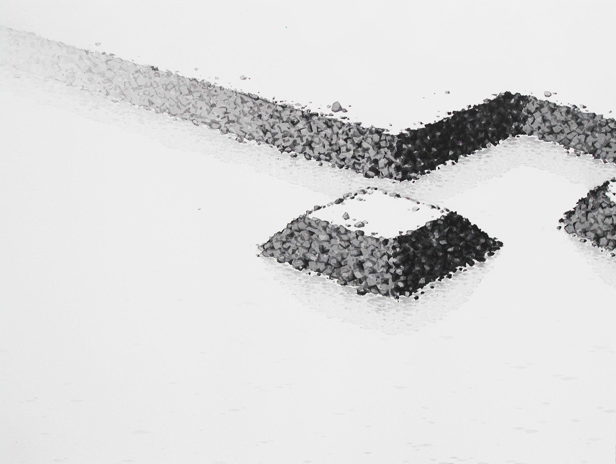 Chris Ballantyne   Island  2014 india ink on paper 12 x 16 in