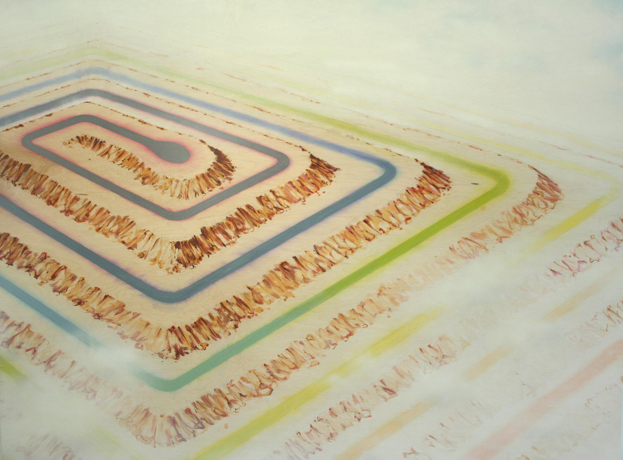 Chris Ballantyne   Ziggurat (Cul de Sac)  2015 acrylic on panel 48 x 64 in