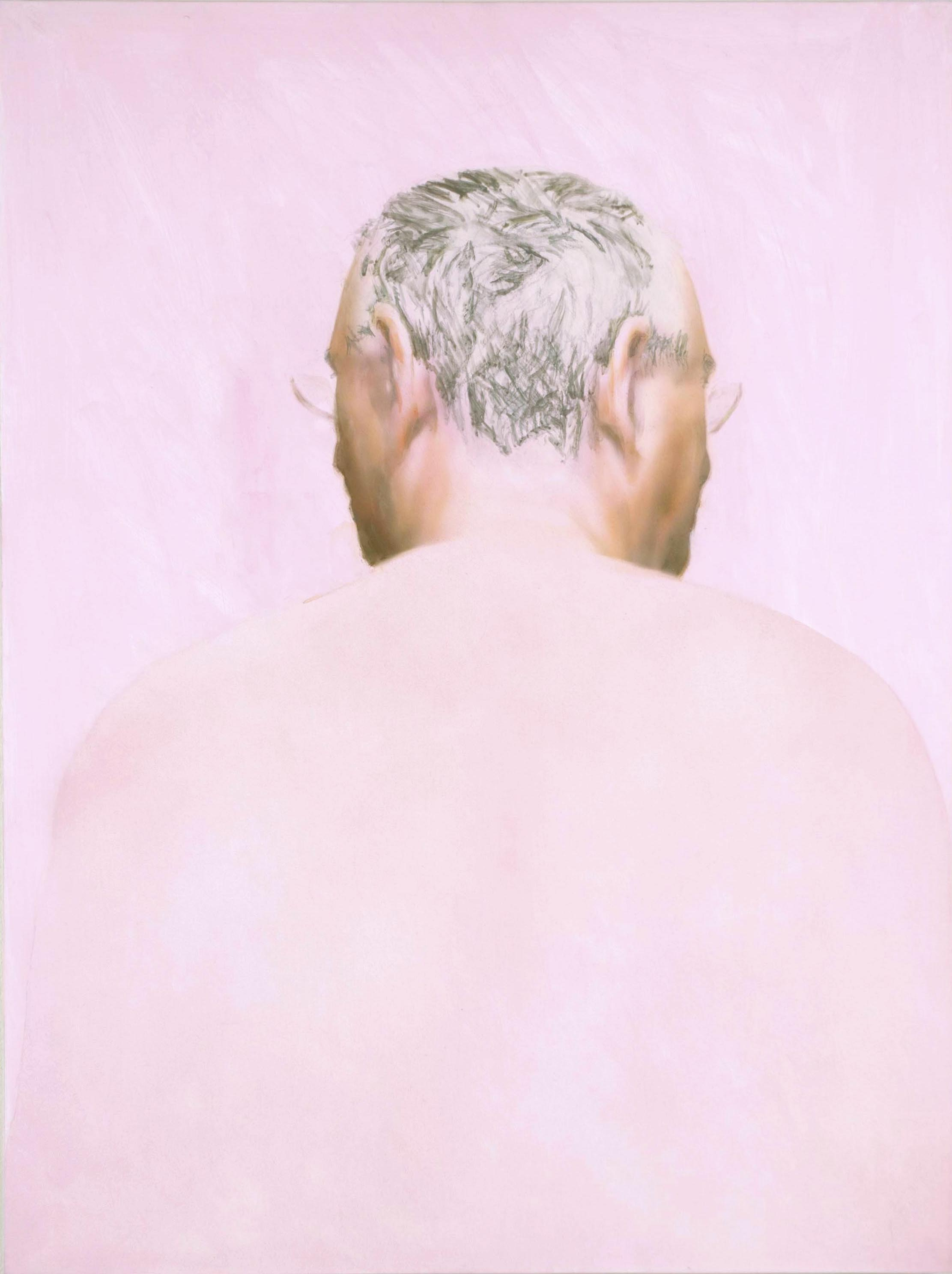 Robert Feintuch  Two-Faced,  2008 Oil and polymer emulsion on honeycomb panel 20h x 15w in.