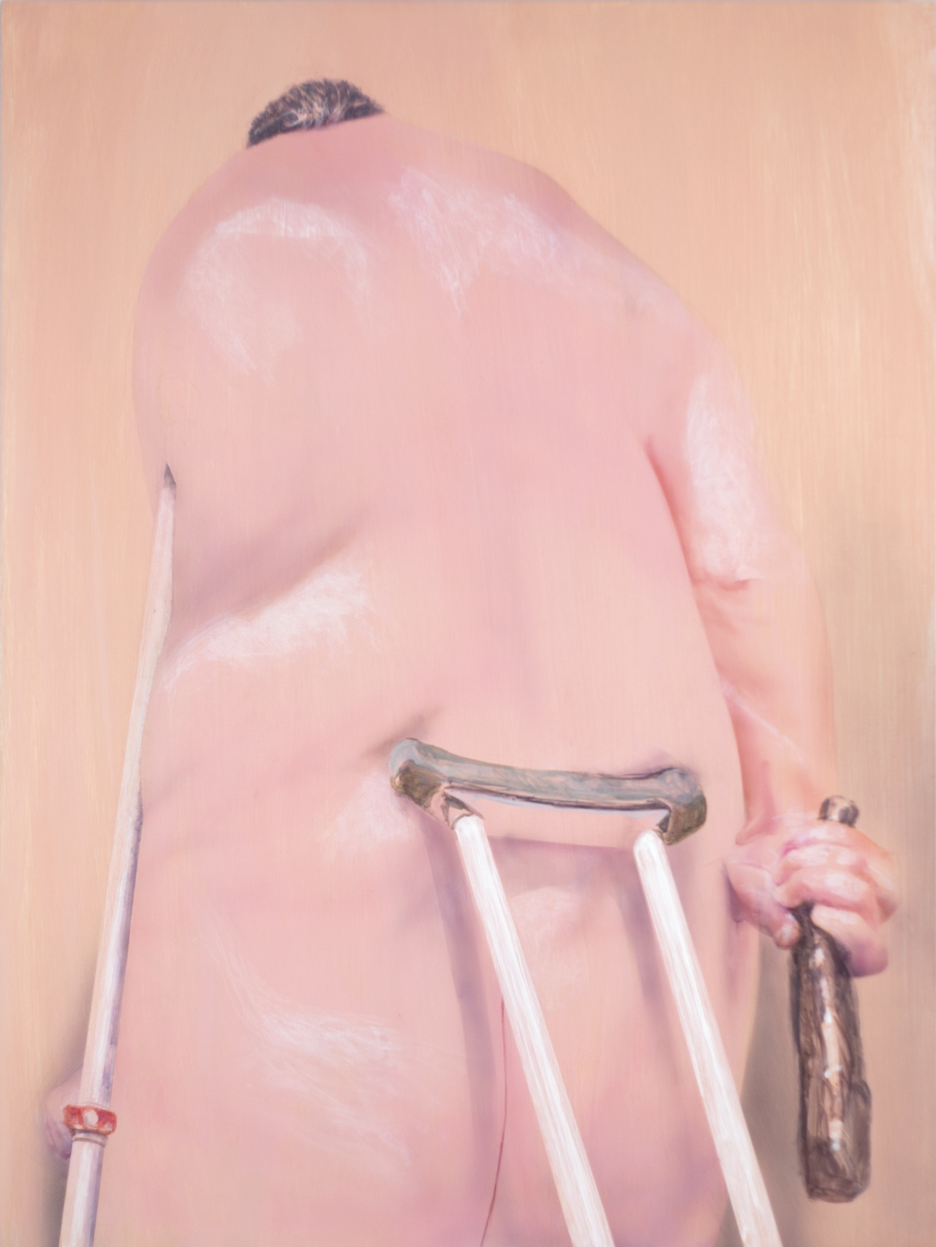 Robert Feintuch  Fat Hercules,  2011 Polymer emulsion on honeycomb panel 30h x 22.5w in.