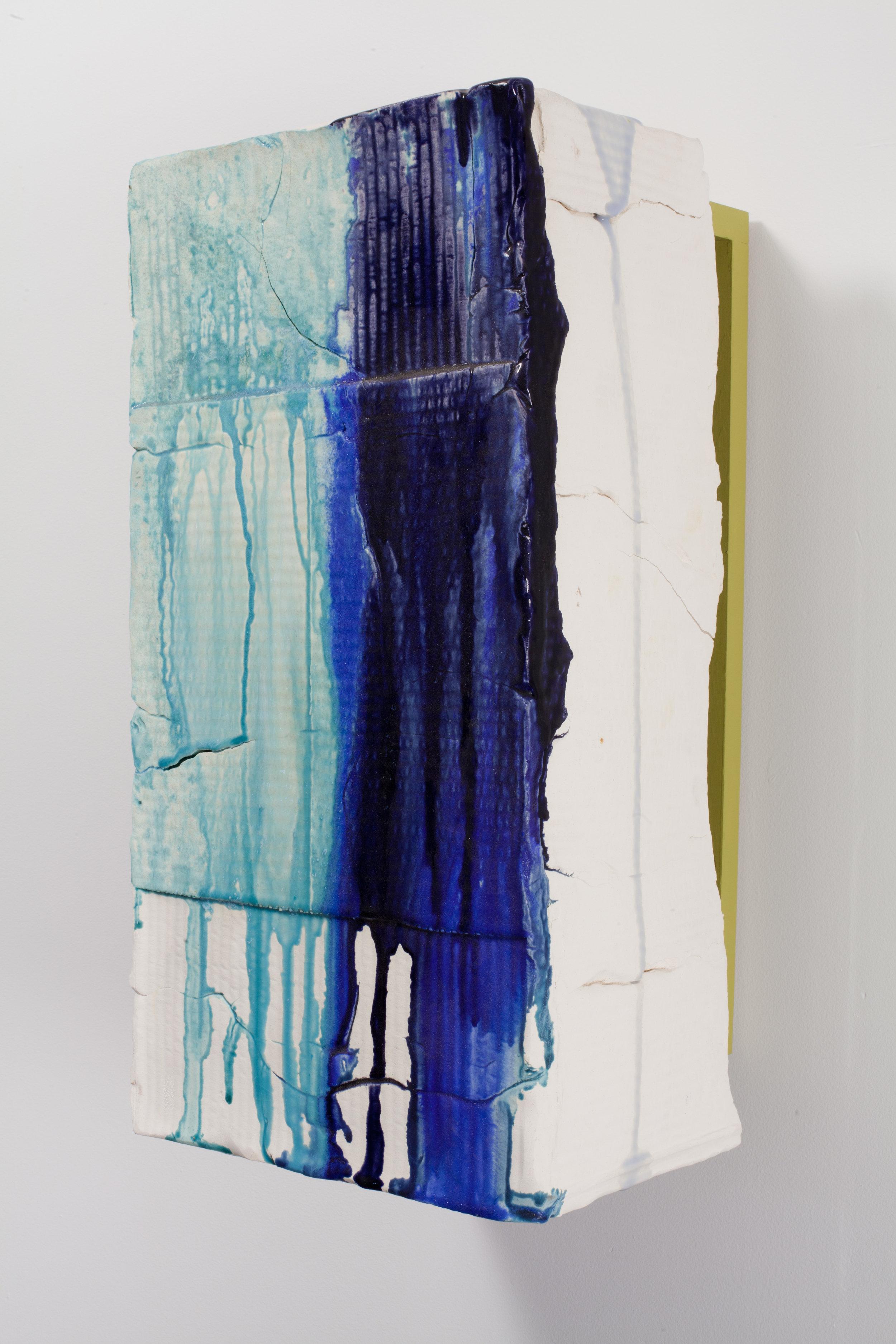 Nicole Cherubini  The Blues I,  2011 Earthenware, glaze, pine, acrylic 23.5 x 11.5 x 10.5 in.
