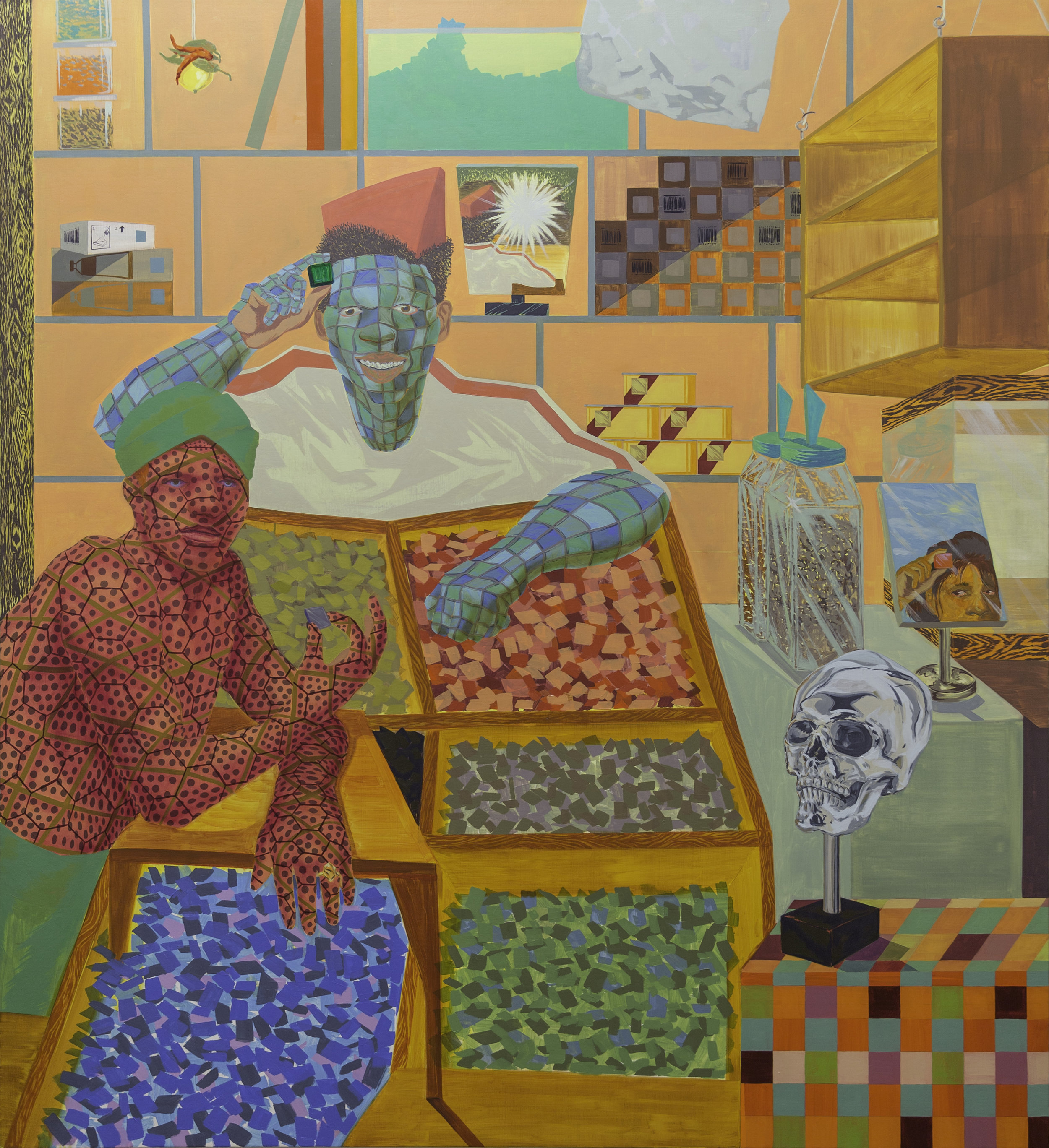 Alex Jackson ( C)(S)ell(ar)(er) , 2017 oil on canvas  72h x 66w in.