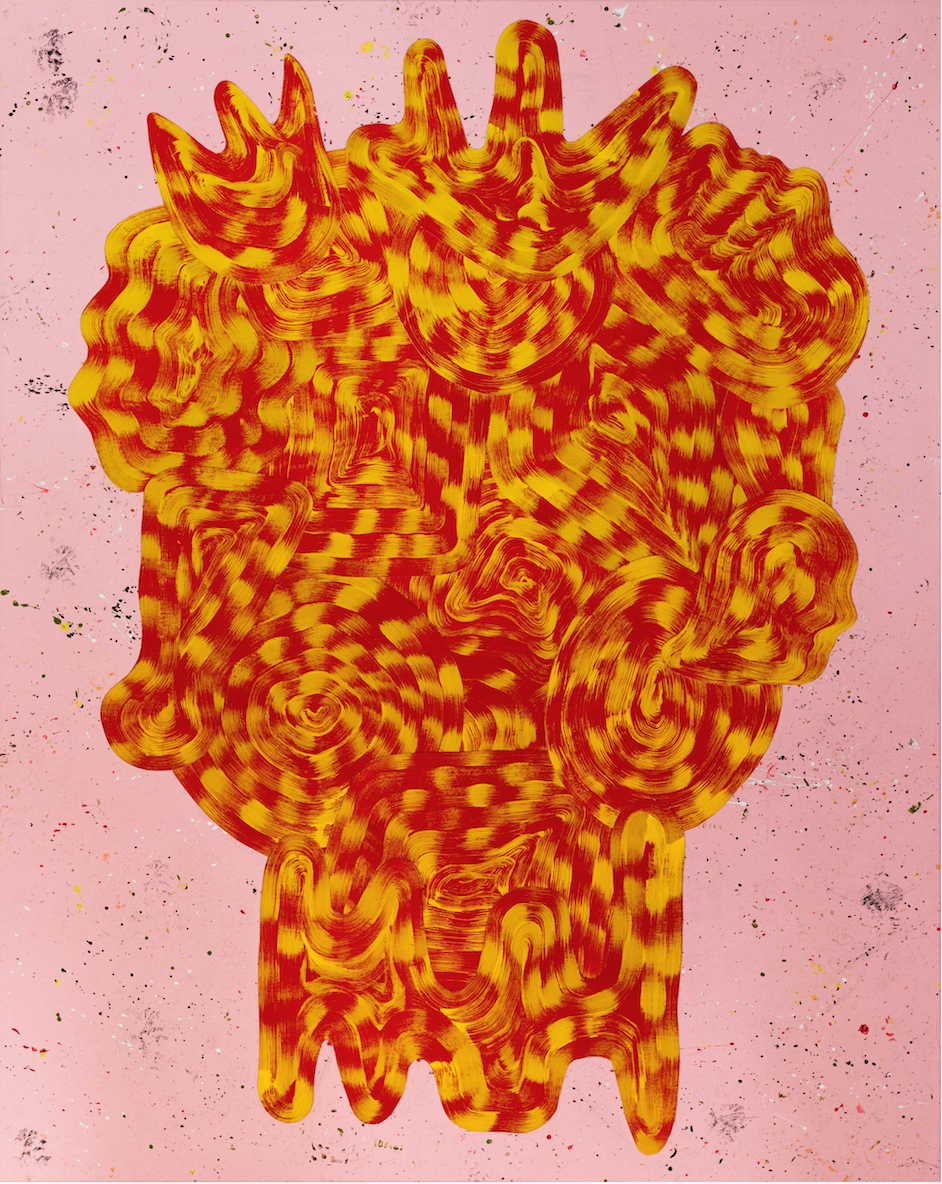 Josh Jefferson    Mrs. Nibbs  , 2017 collage on canvas 60h x 48w in