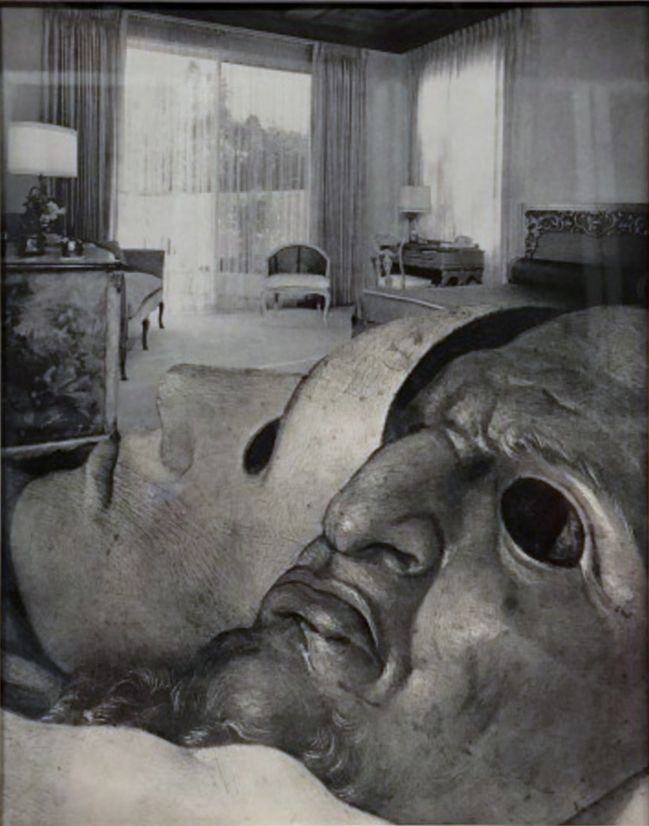 John O'Reilly   Brentwood Bedroom , 1979  halftone montage  9.70h x 7.75w in