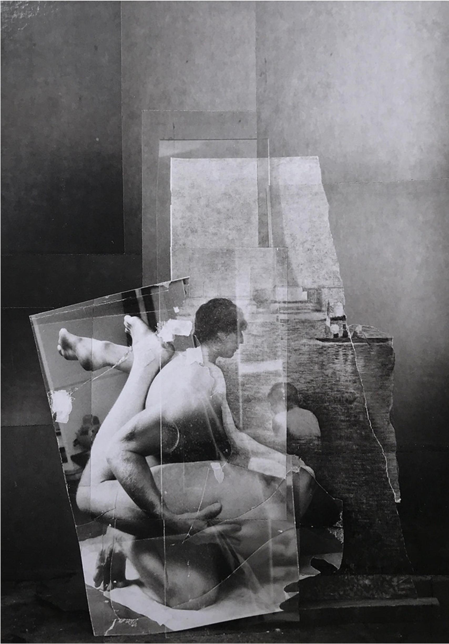 John O'Reilly   By the Seine , 1999  polaroid montage  9.75h x 8.25w in