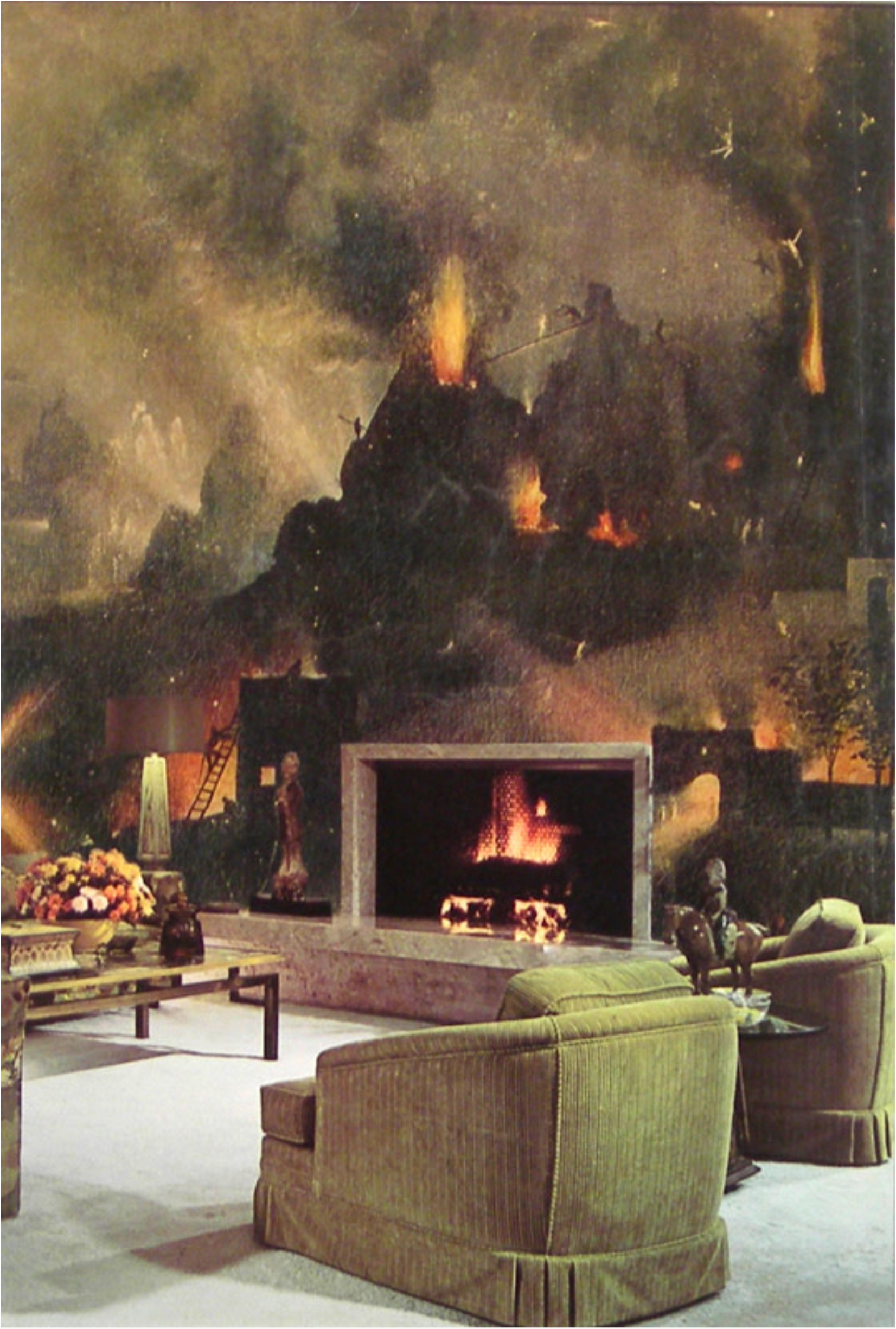 John O'Reilly   Fire , 1982  paper montage