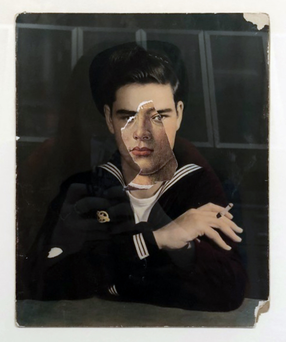 John O'Reilly  Sailor , 2016 color photograph and paper  17h x 13w in