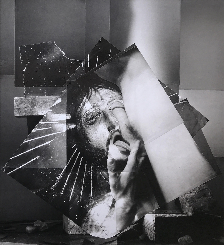 John O'Reilly  Temptation of St. Antony Head , 1994 polaroid montage 11h x 10w in