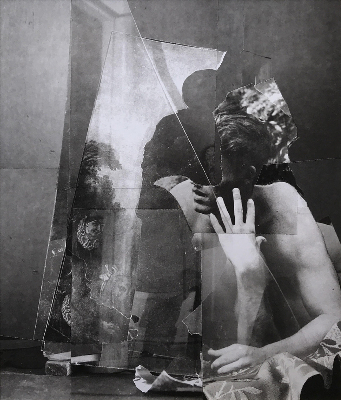 John O'Reilly   Tears , 1999  polaroid montage  7.88h x 6.75w in
