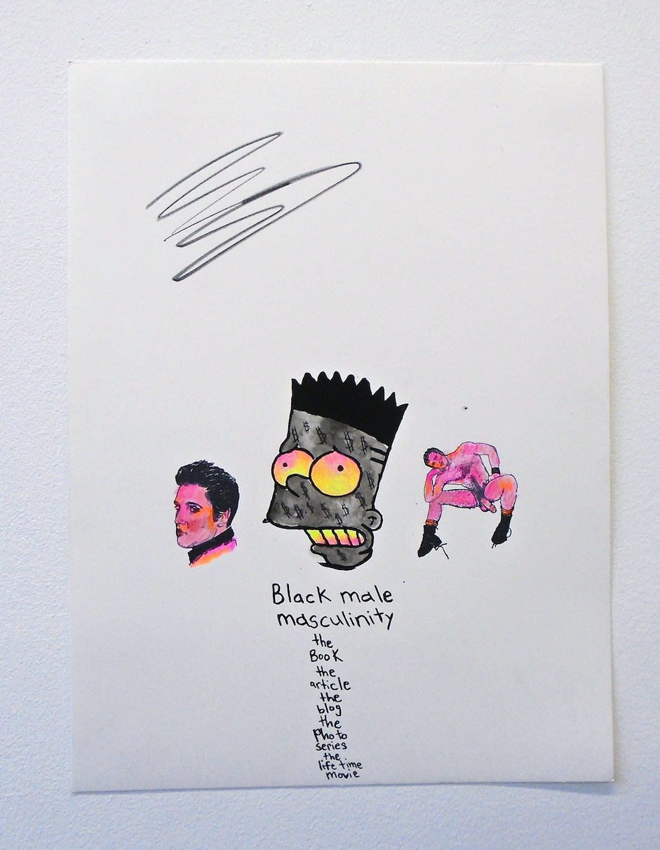David Leggett  Young King , 2018 acrylic, screen print, color pencil, rubber stamp on paper  15.70h x 11.80w in