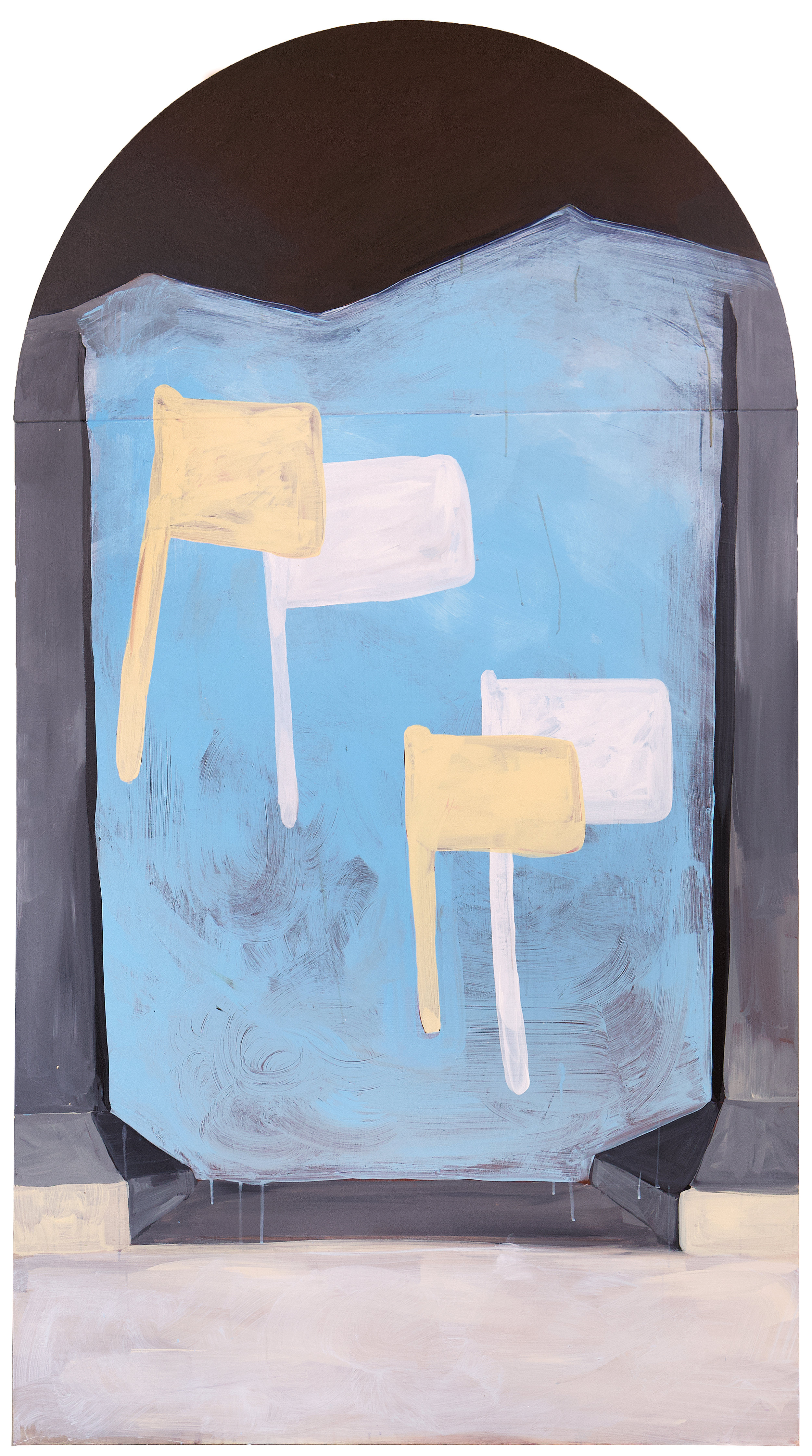 Sophie Lourdes Knight  Procession , 2018  acrylic on canvas 66h x 36w in