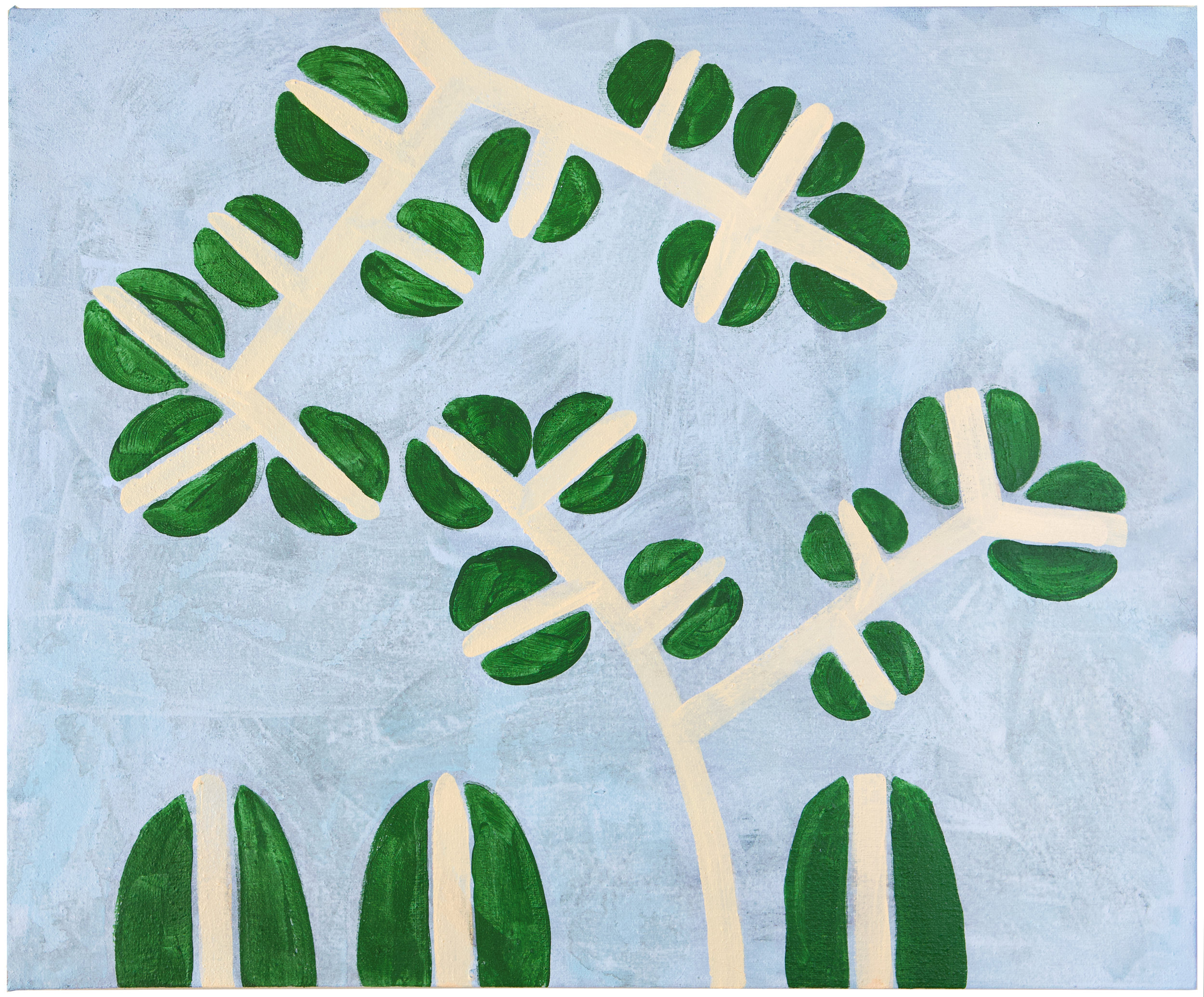 Sophie Lourdes Knight  Stella's Pattern , 2018  acrylic on canvas 18h x 22w in